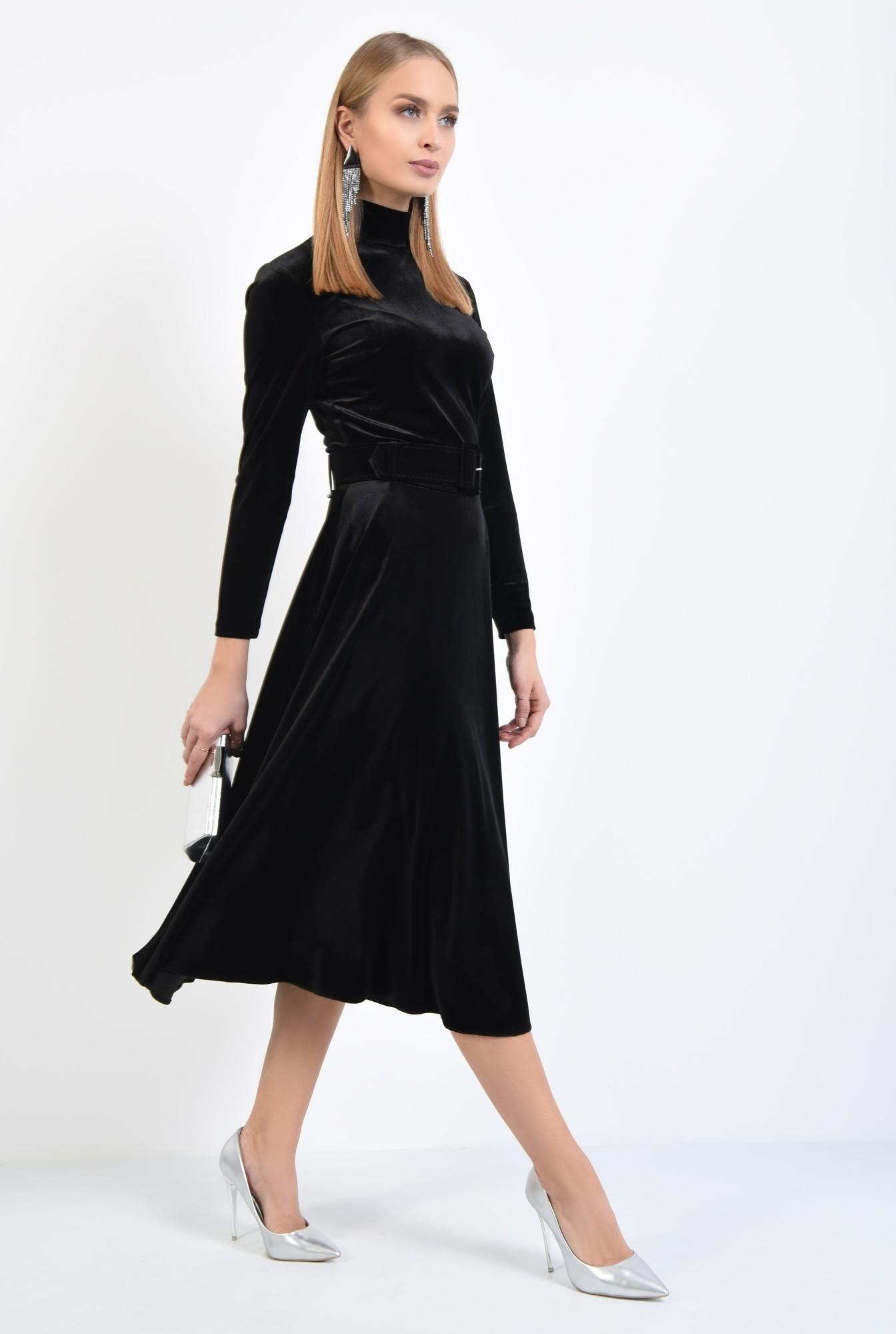 3 - fusta eleganta, neagra, midi, clos, cu centura
