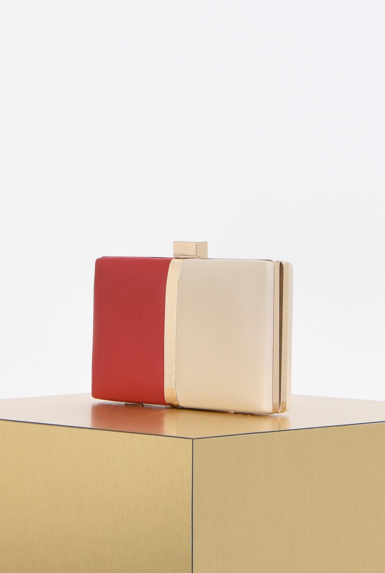 1 - plic elegant, bicolor, alb, rosu, accesorii