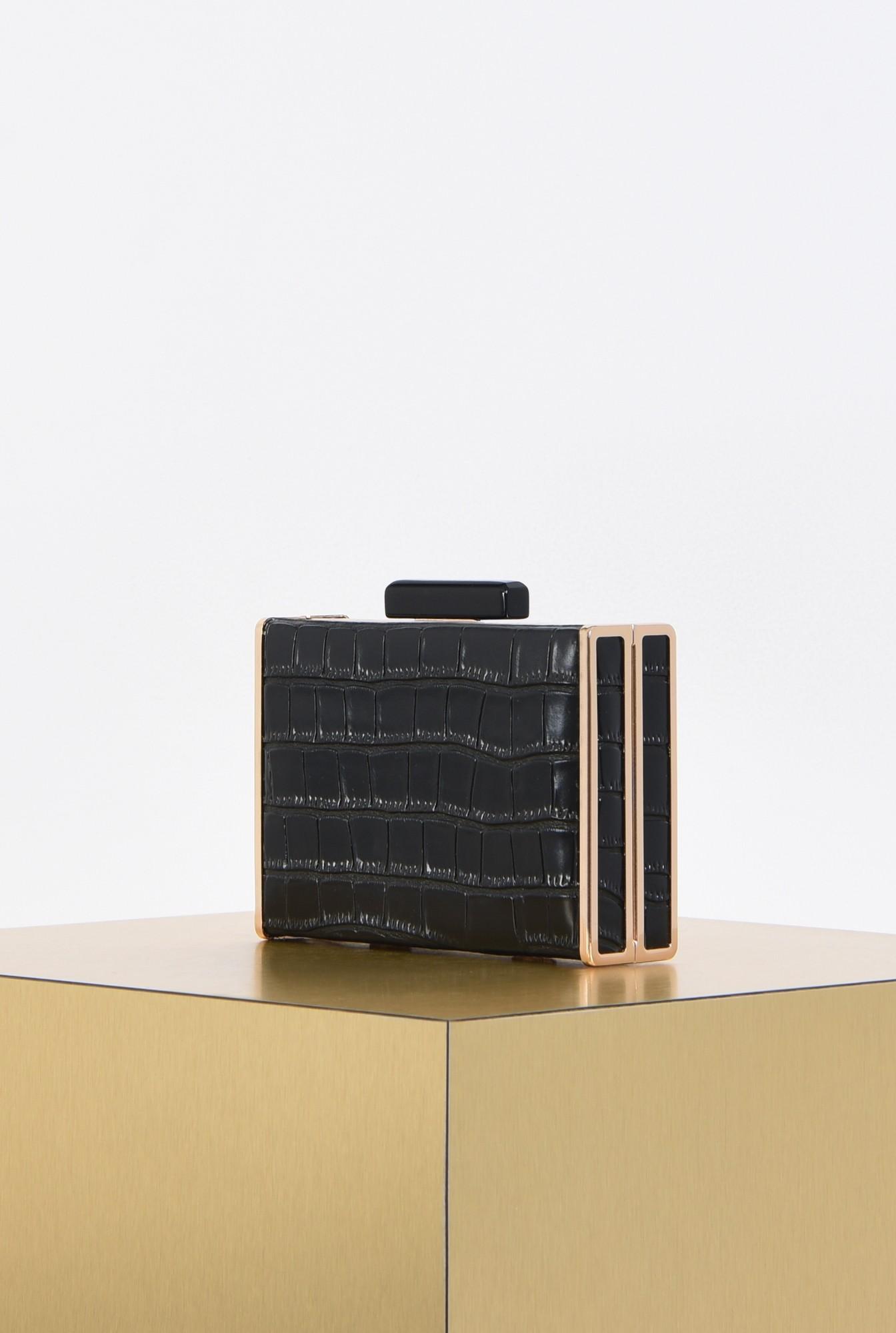 1 - clutch elegant, negru, auriu, accesorii