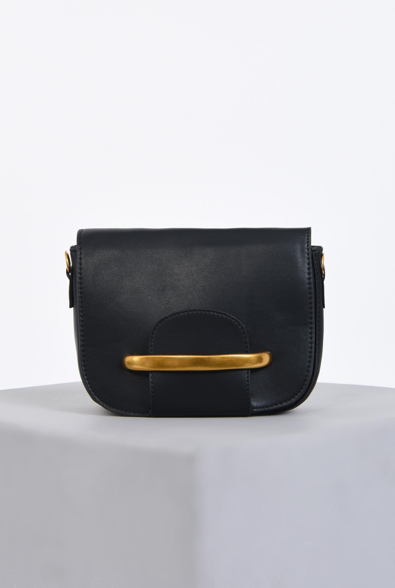 0 - geanta casual, negru, auriu, bareta, detasabila