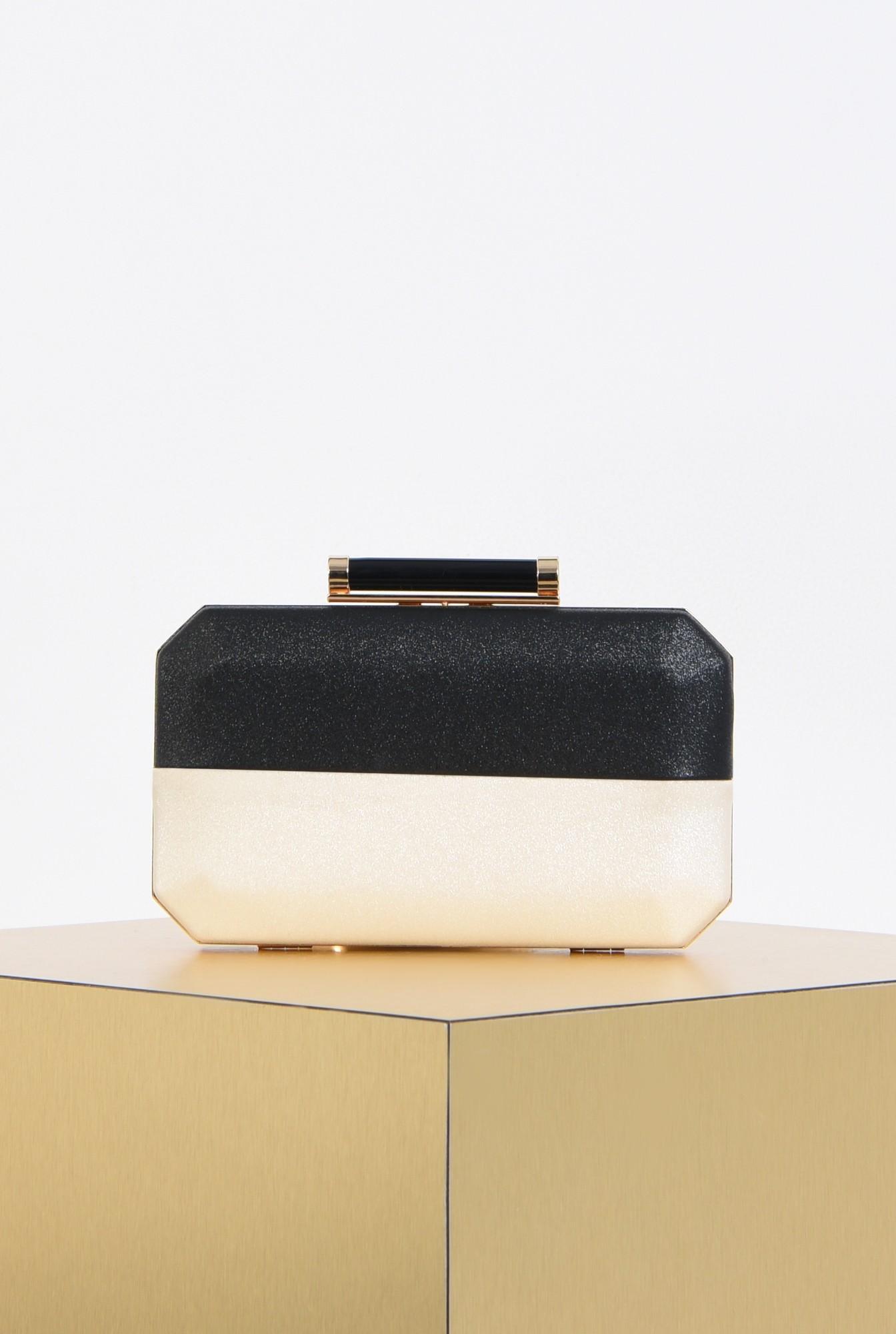 0 - poseta eleganta, clutch, bicolor, plic elegant