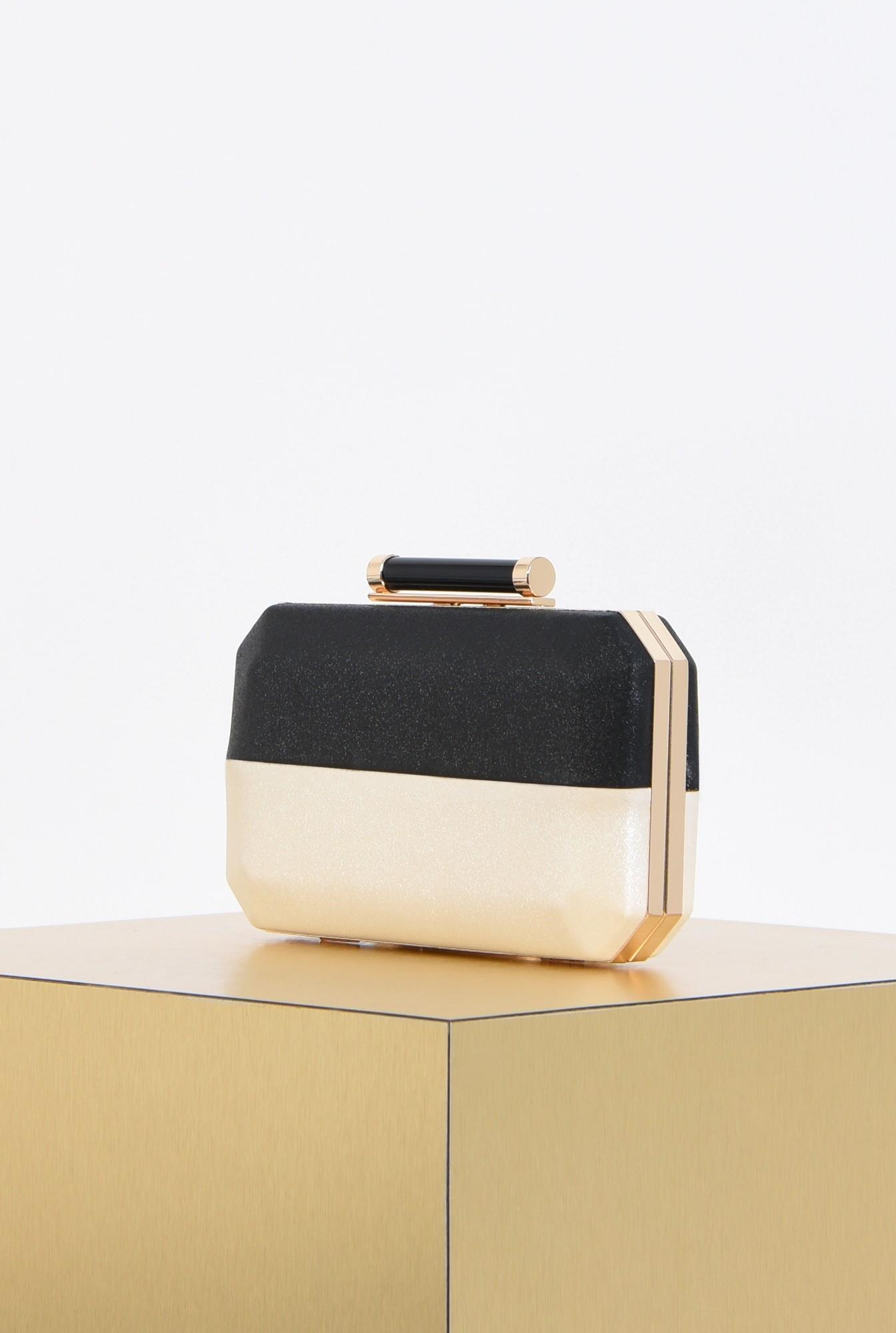 1 - poseta eleganta, clutch, bicolor, plic elegant
