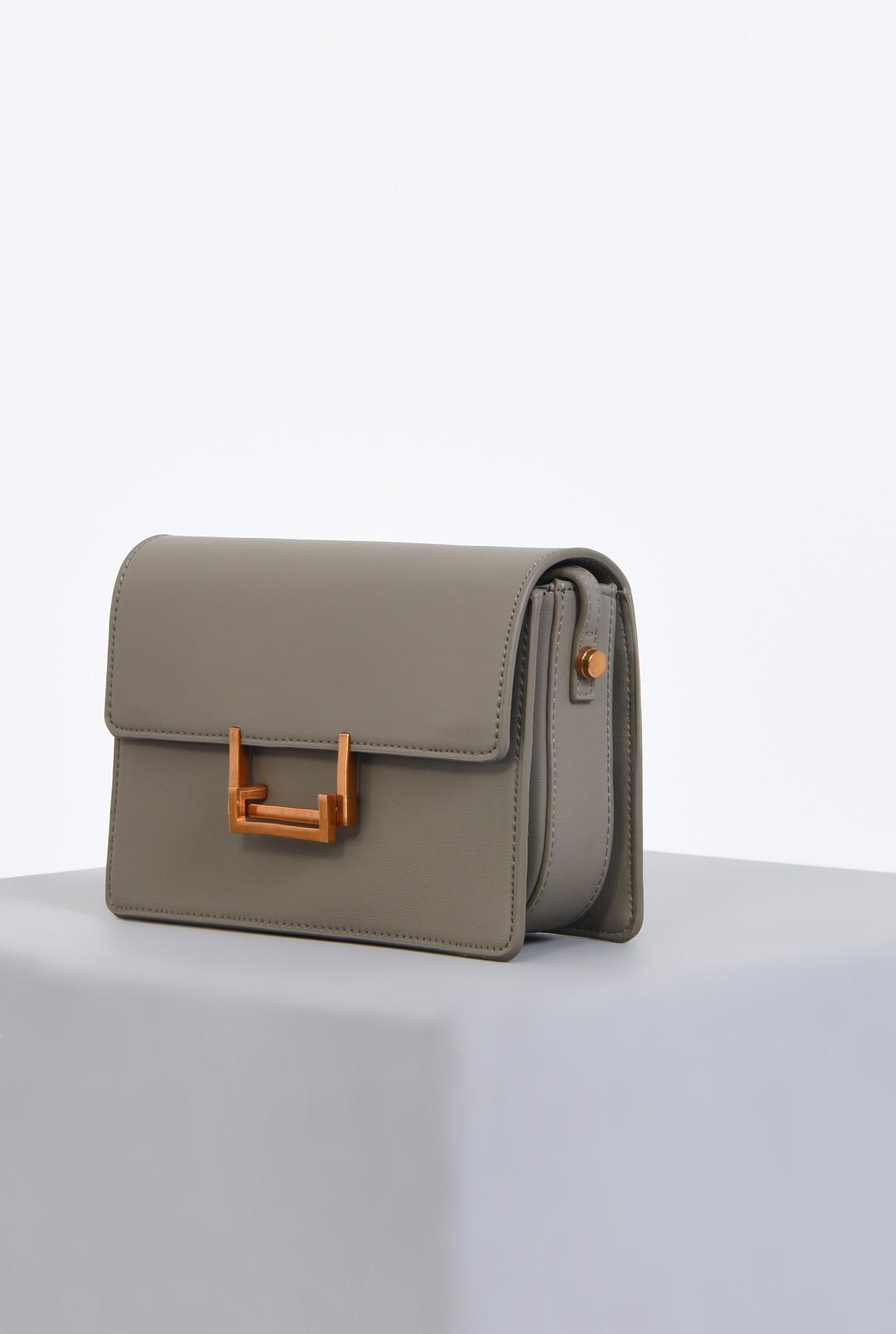 1 - geanta medie, accesorii, gri, poseta casual