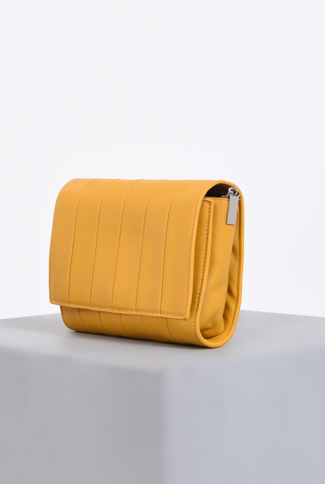 1 - geanta casual, mustar, poseta de zi