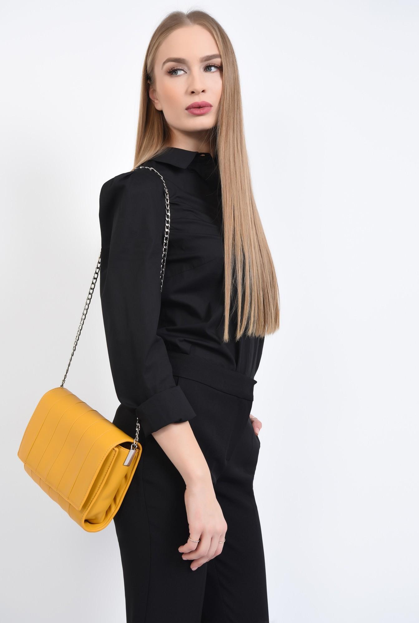 3 - geanta casual, mustar, poseta de zi