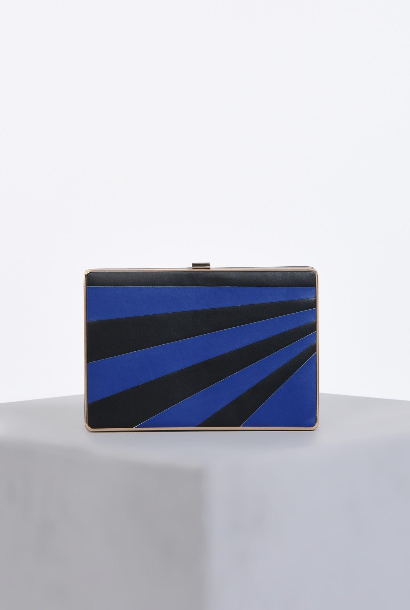 0 - plic dama, dungi, negru, albastru, lant detasabil