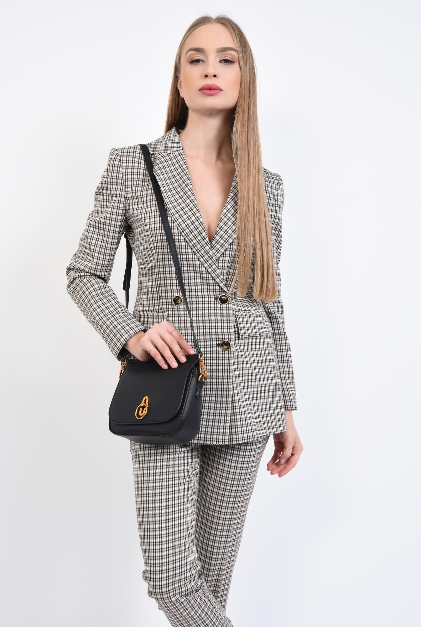 3 - geanta casual, mini, bareta detasabila, negru
