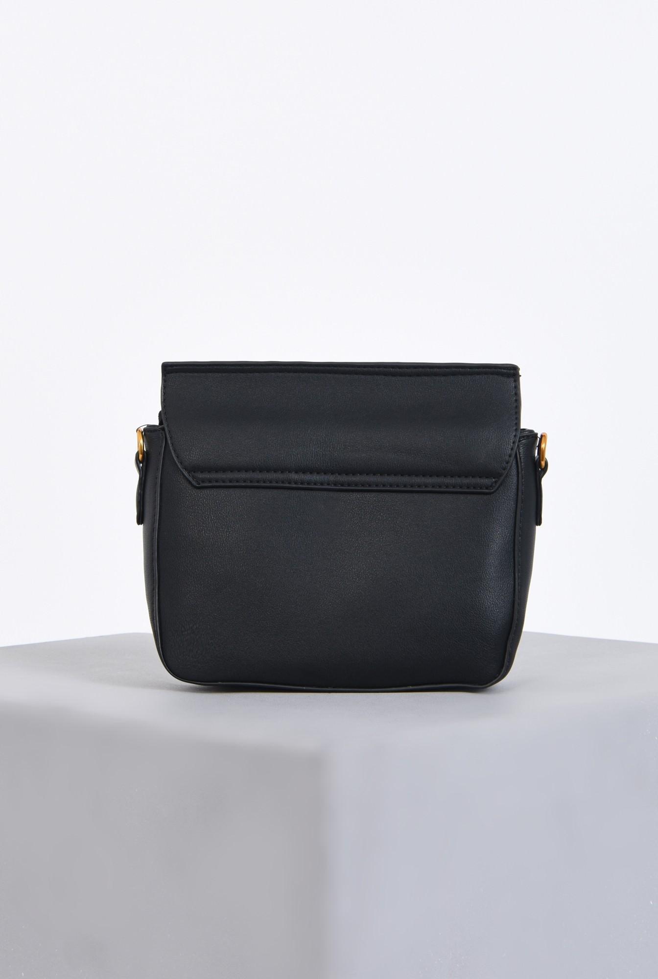 2 - geanta casual, mini, bareta detasabila, negru