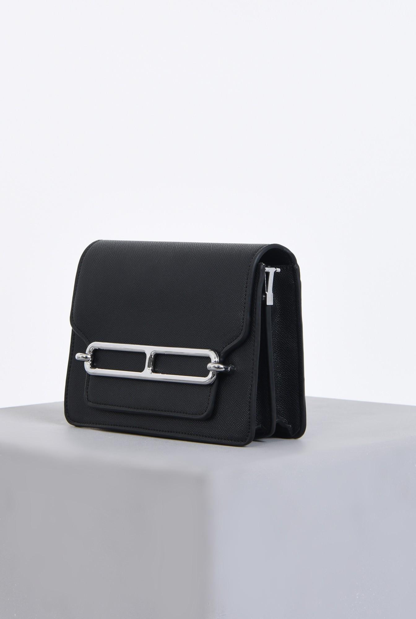 1 - geanta casual, negru, bareta detasabila