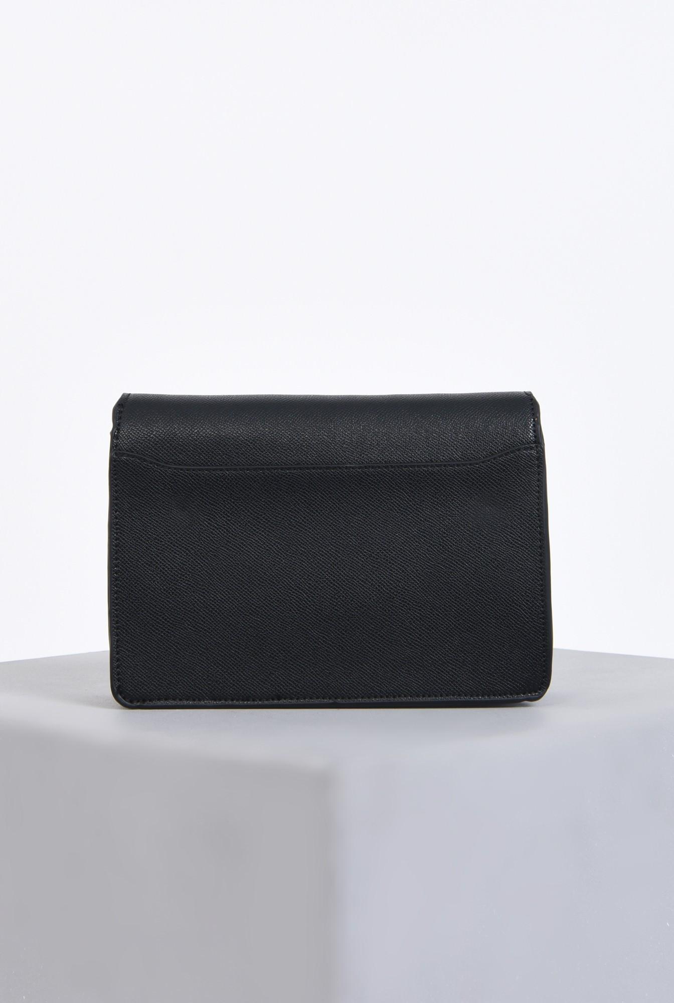 2 - geanta casual, negru, bareta detasabila