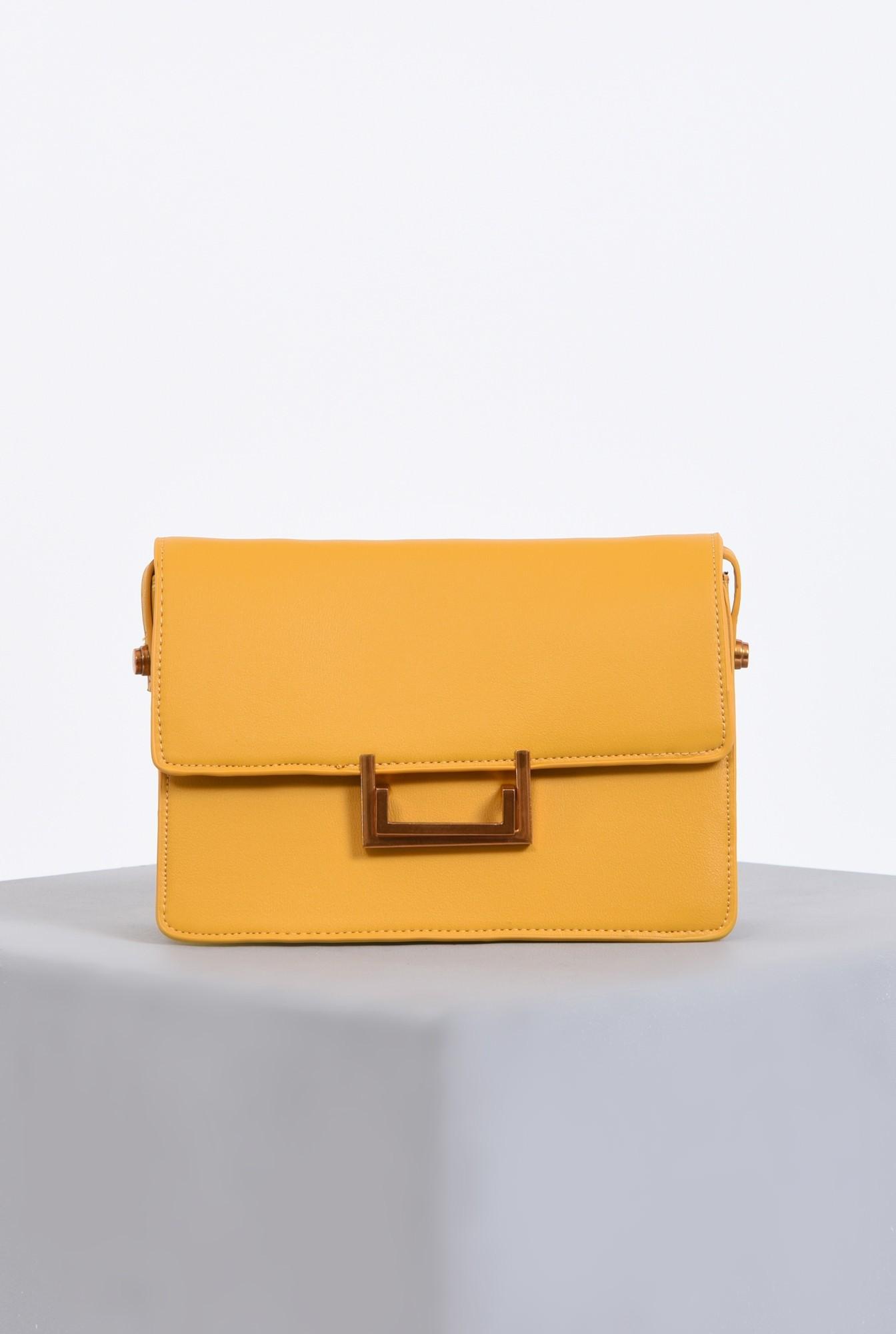 0 - geanta casual, mustar, medie, accesorii