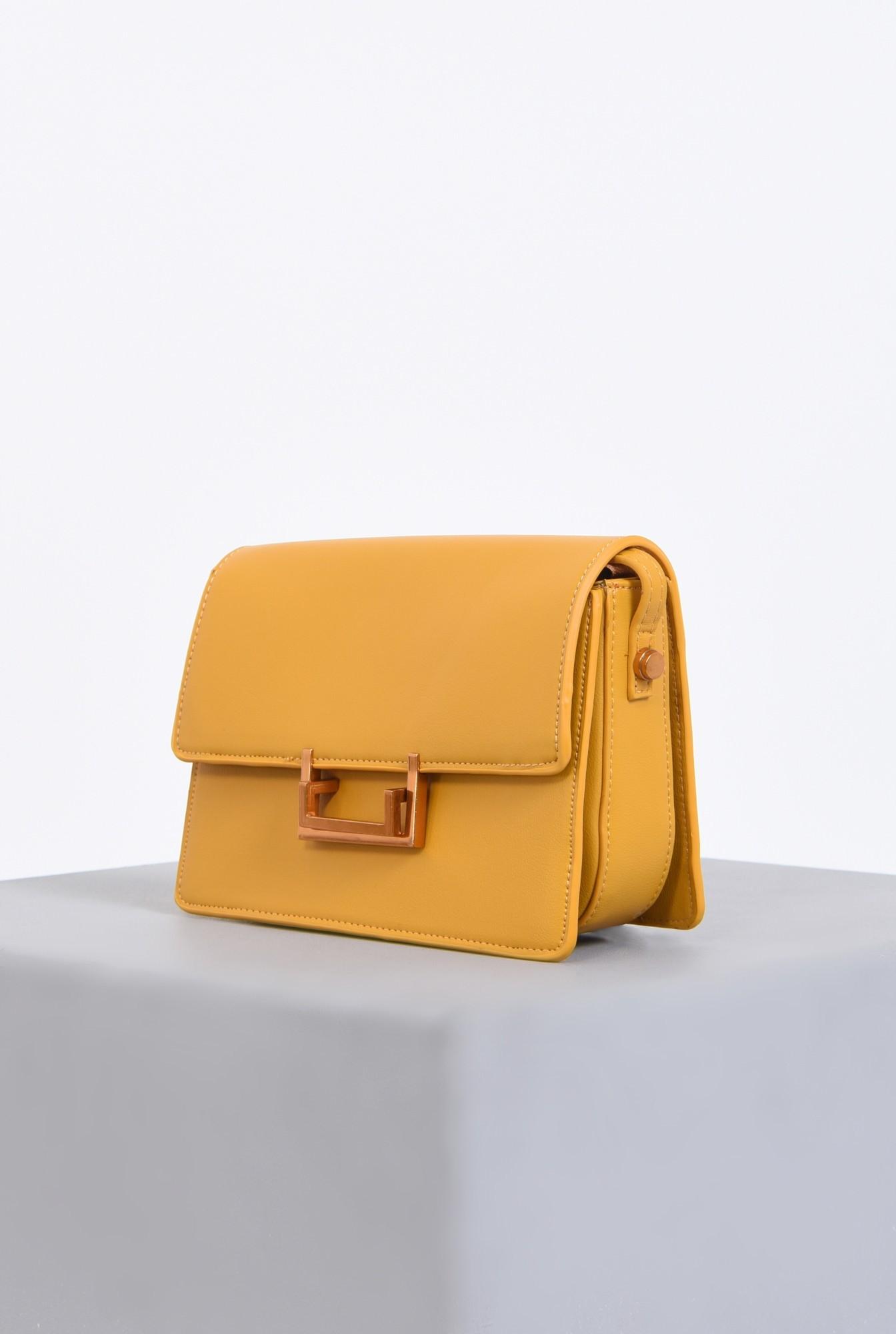 1 - geanta casual, mustar, medie, accesorii