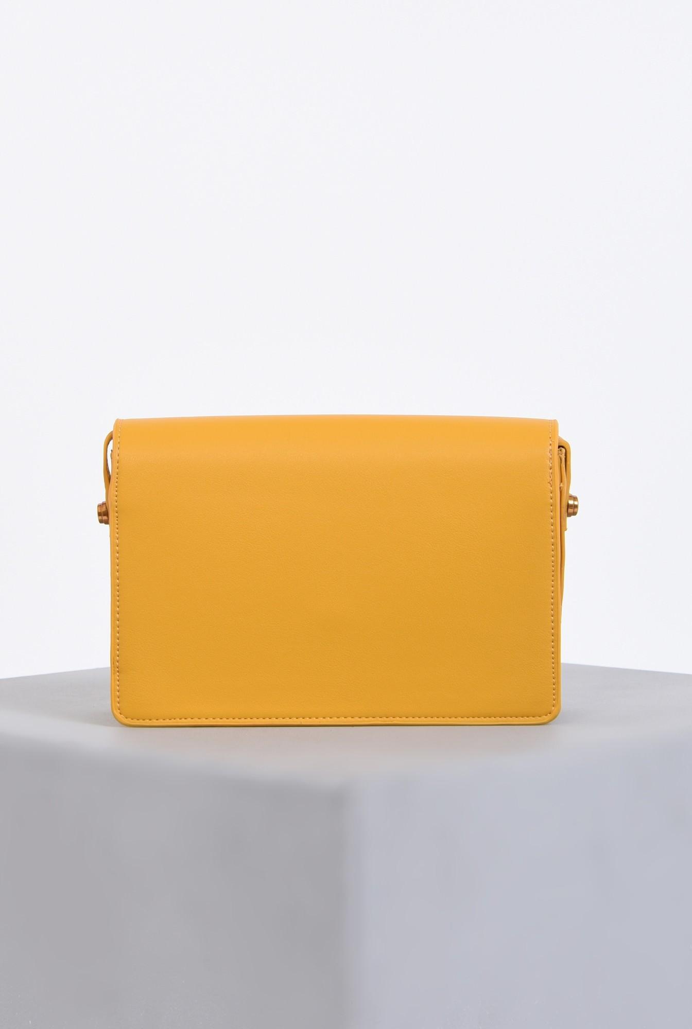 2 - geanta casual, mustar, medie, accesorii