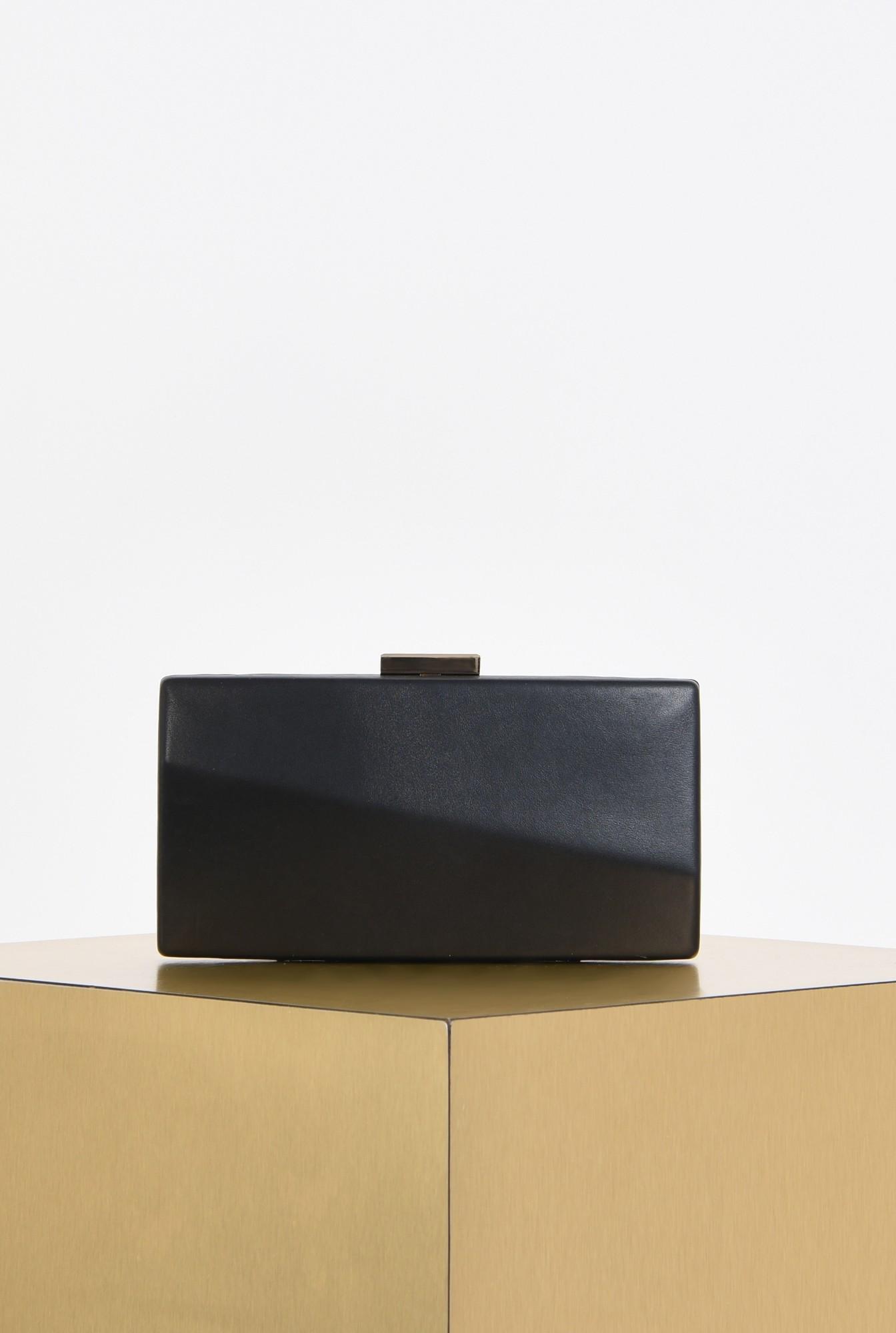 0 - plic elegant, negru, piele eco, lant detasabil