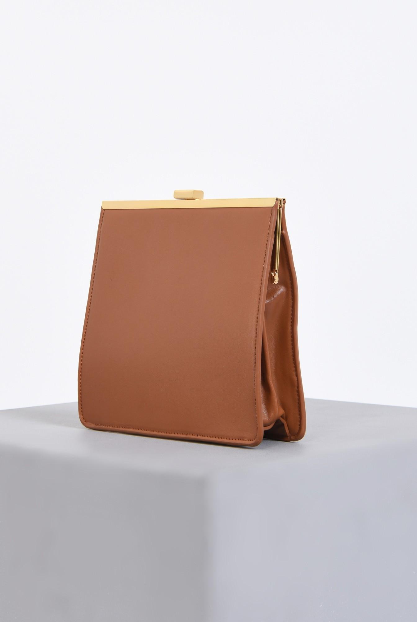 1 - geanta dama, medie, camel, accesorii