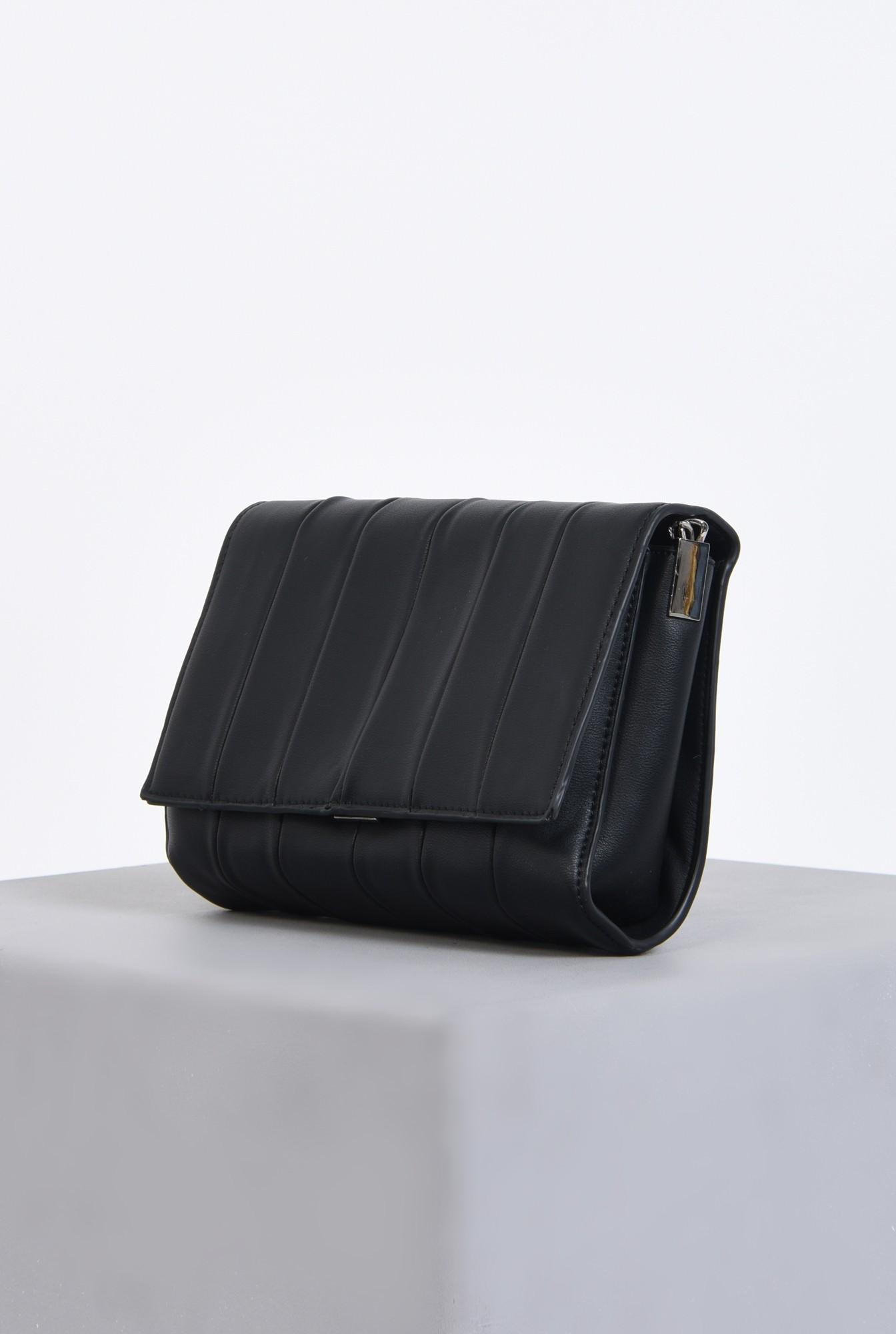 1 - geanta casual, negru, matlasata