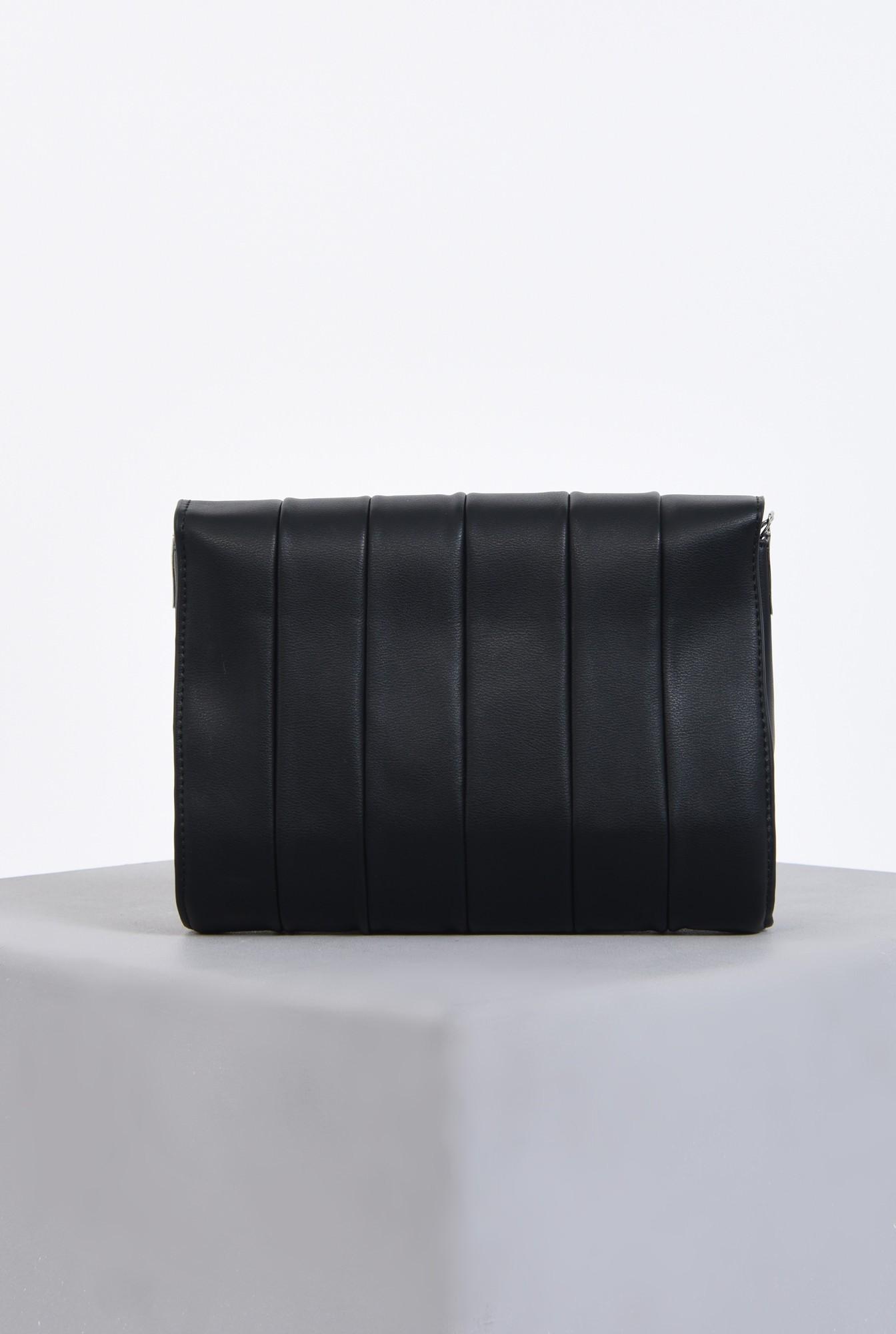 2 - geanta casual, negru, matlasata