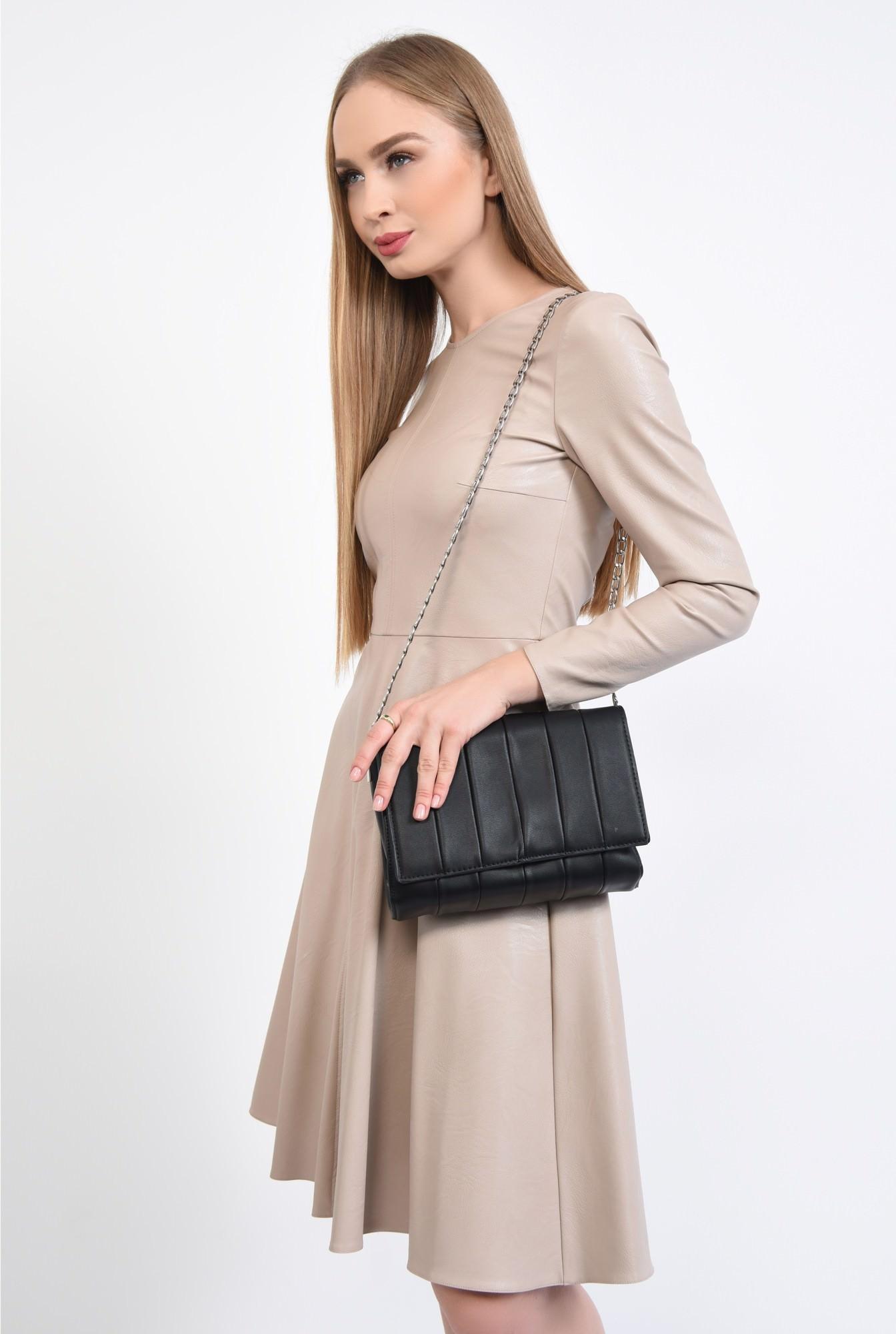 3 - geanta casual, negru, matlasata