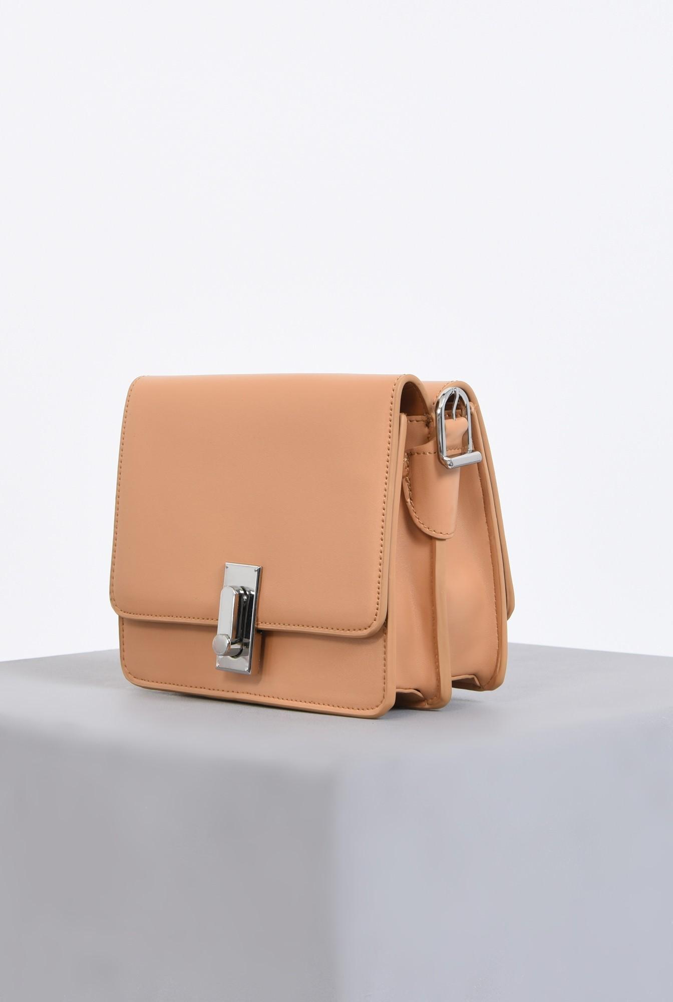 1 - geanta casual, crem, piele ecologica
