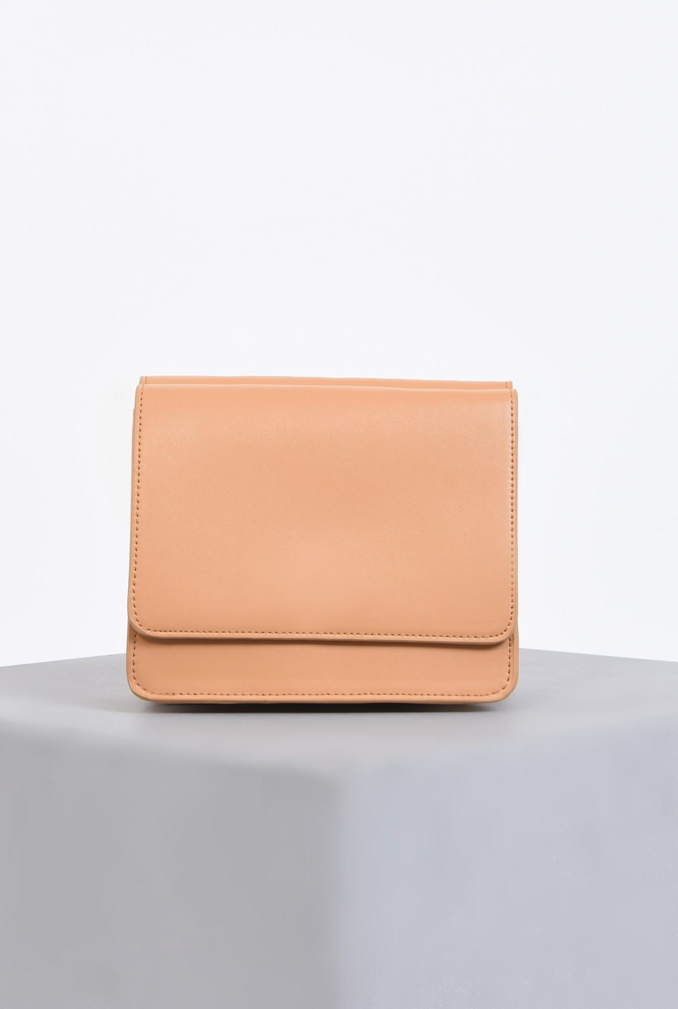 2 - geanta casual, crem, piele ecologica