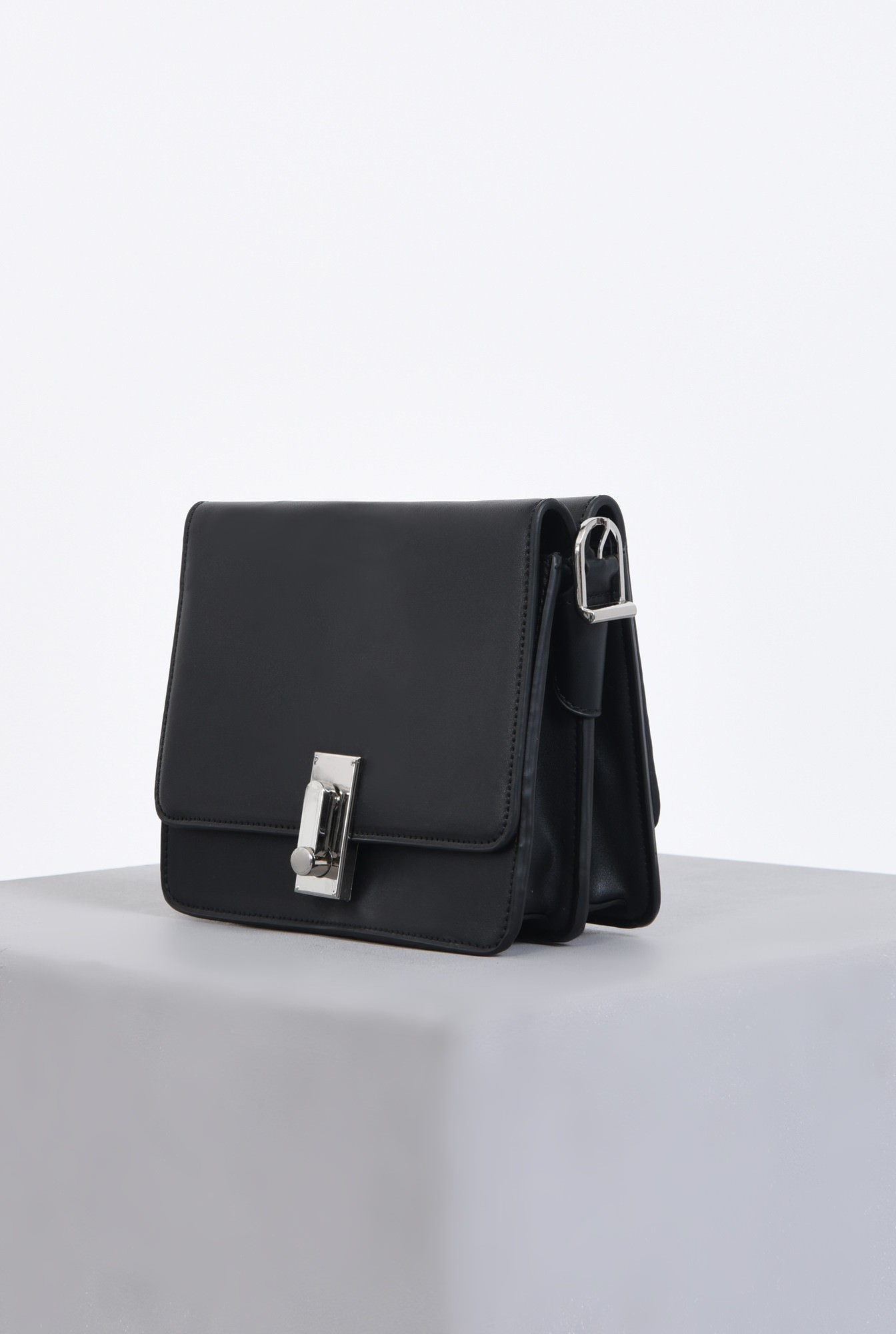 2 - geanta casual, negru, mini, accesorii