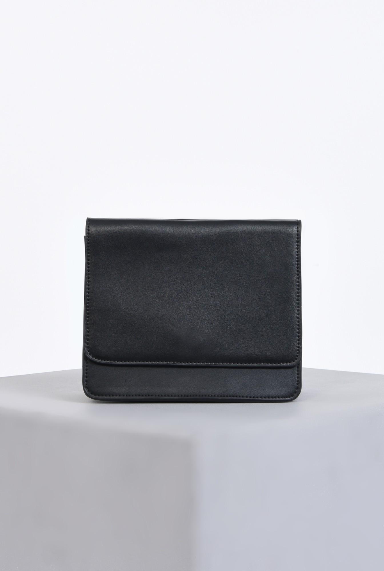 1 - geanta casual, negru, mini, accesorii
