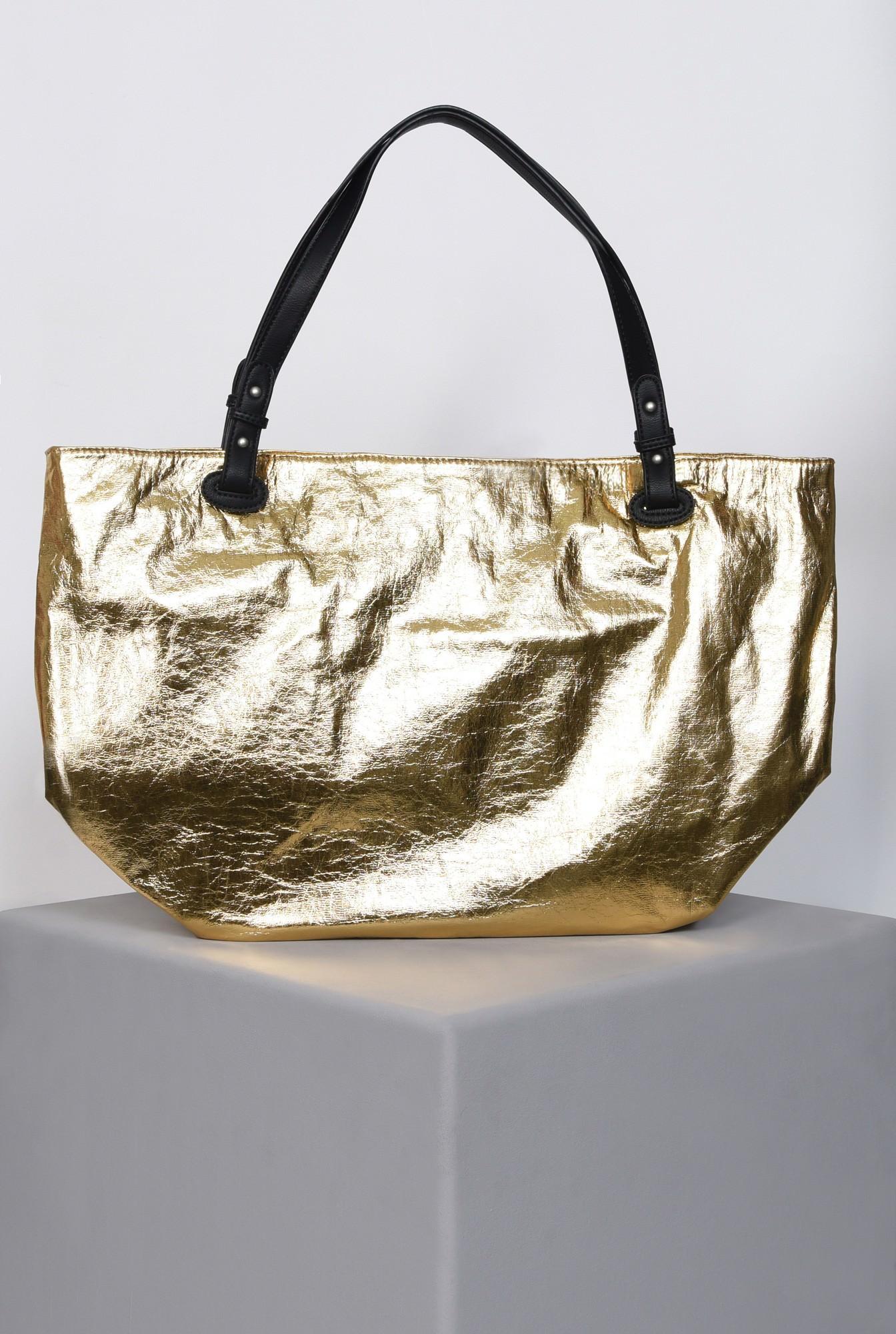 1 - geanta maxi, auriu, accesorii, lac
