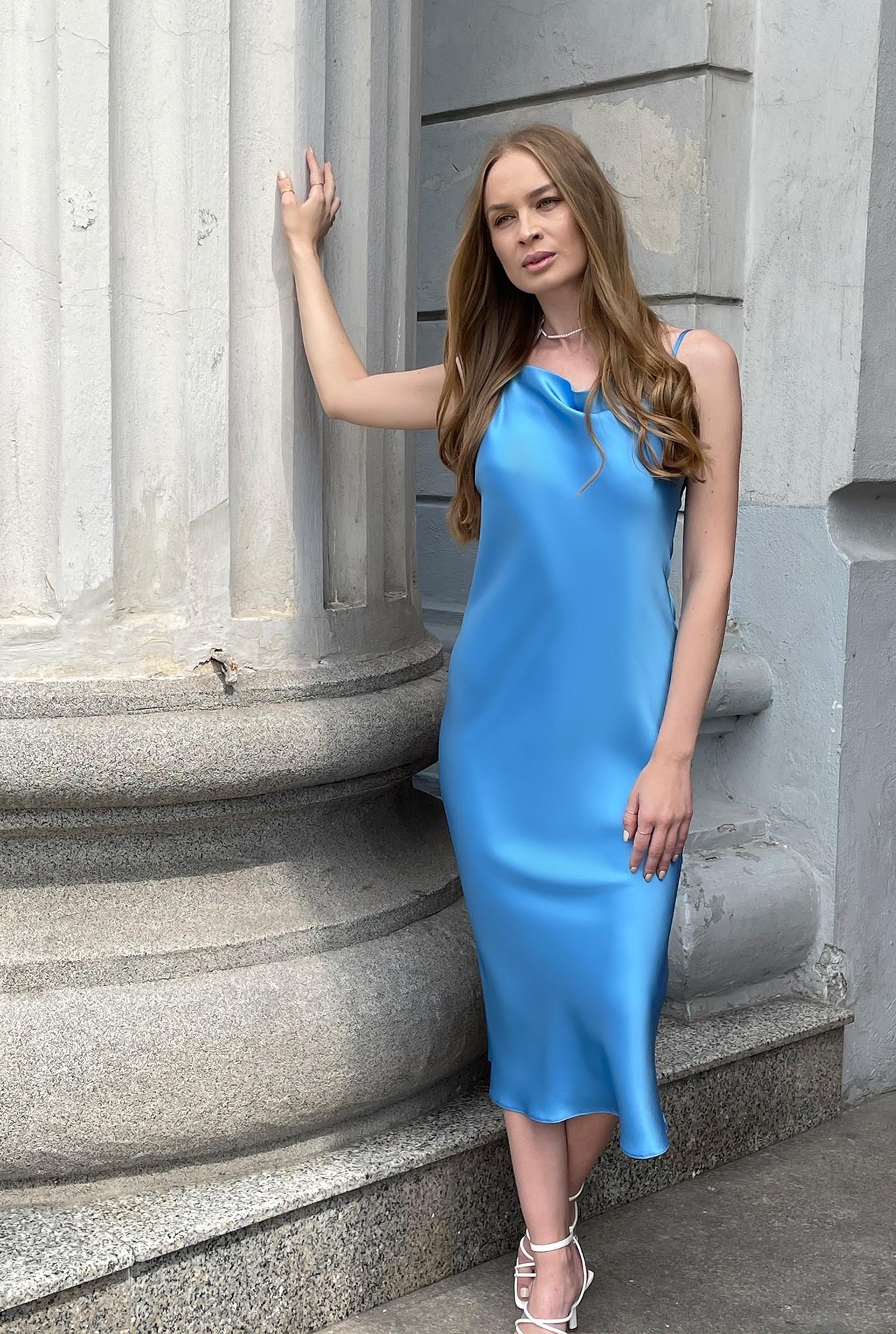 0 - rochie bleu, cu bretele subtiri, Poema