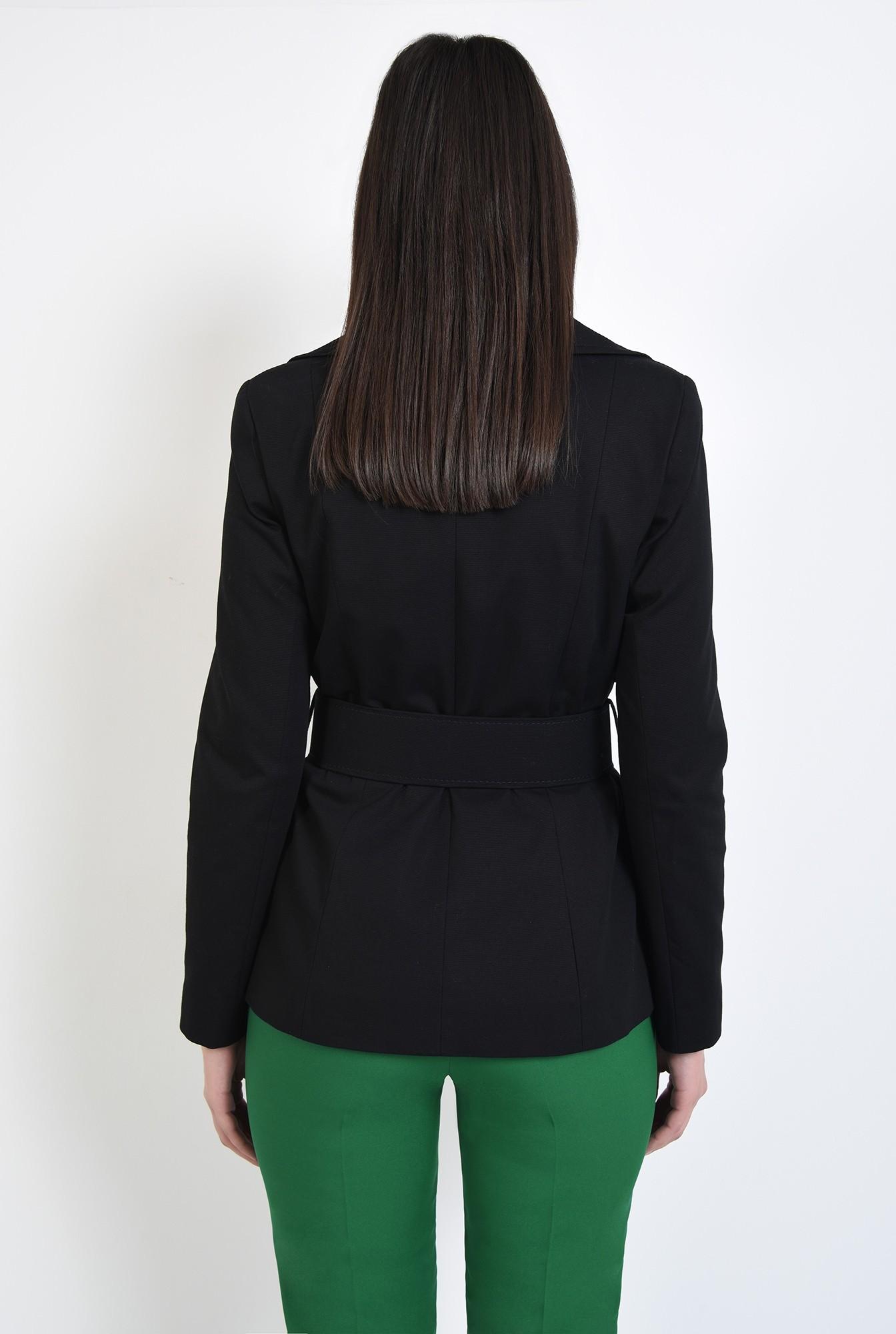 1 - jacheta neagra, scurta, cu centura, cu revere, Poema