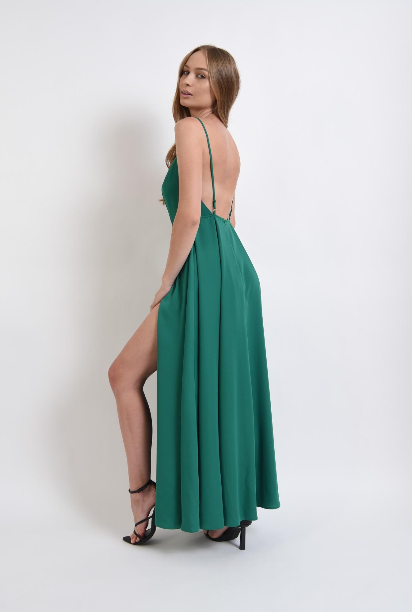 0 - rochie verde, cu spatele decoltat, Poema