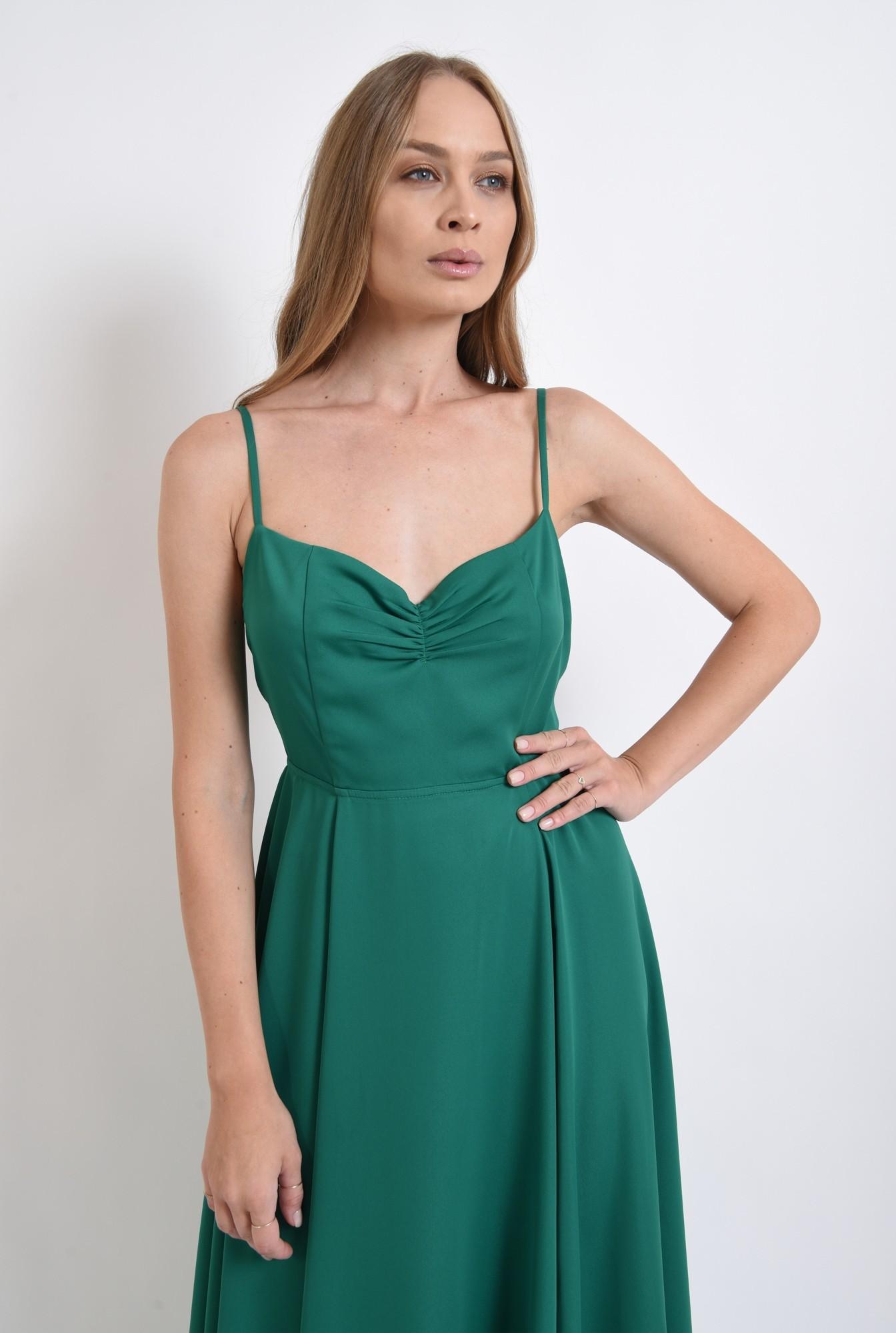 2 - rochie verde, cu spatele decoltat, Poema