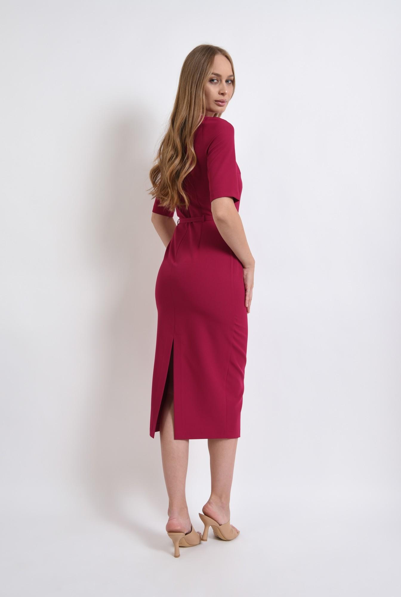 2 - rochie conica, de zi, cu centura