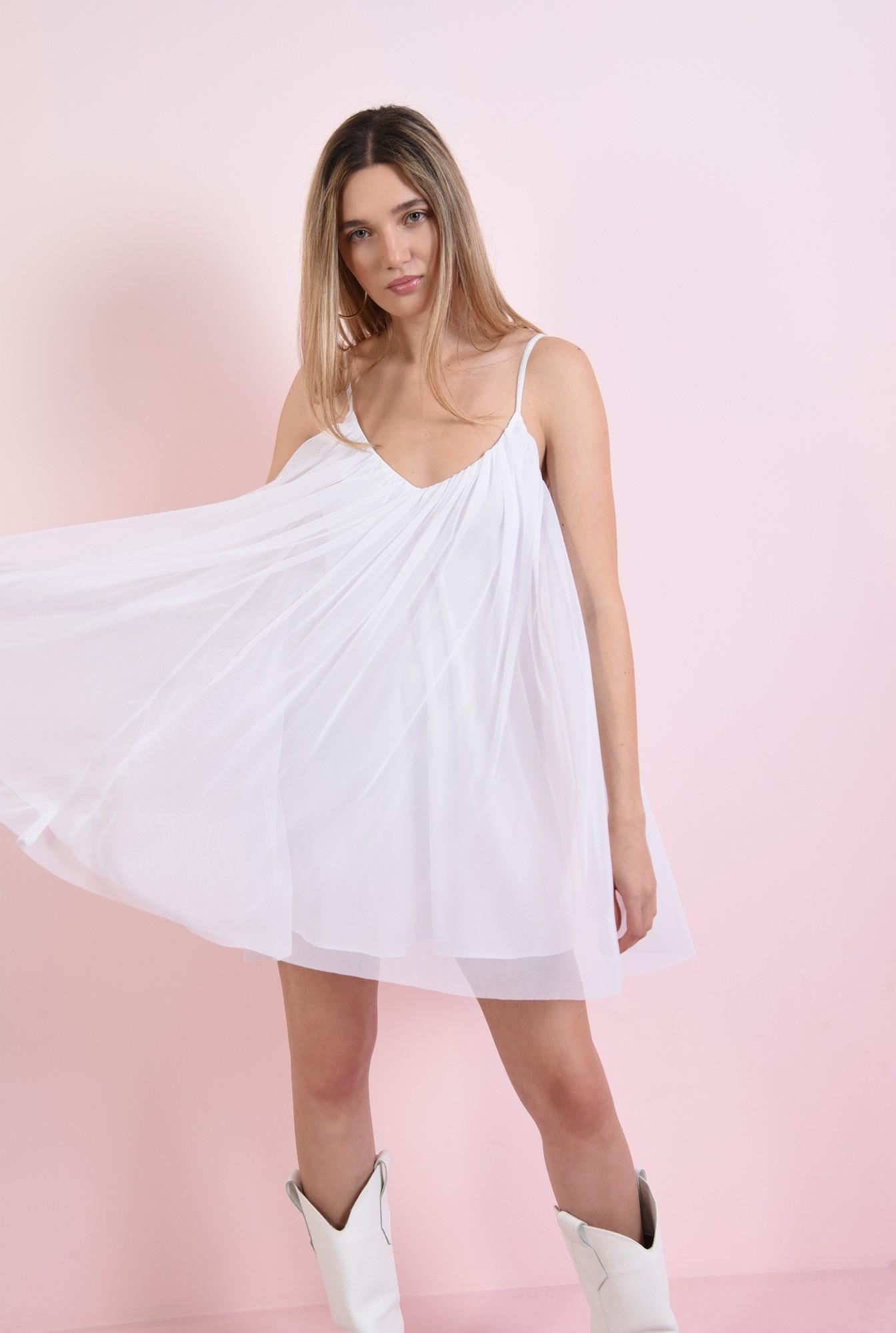 1 - rochie alba, din tul, Poema