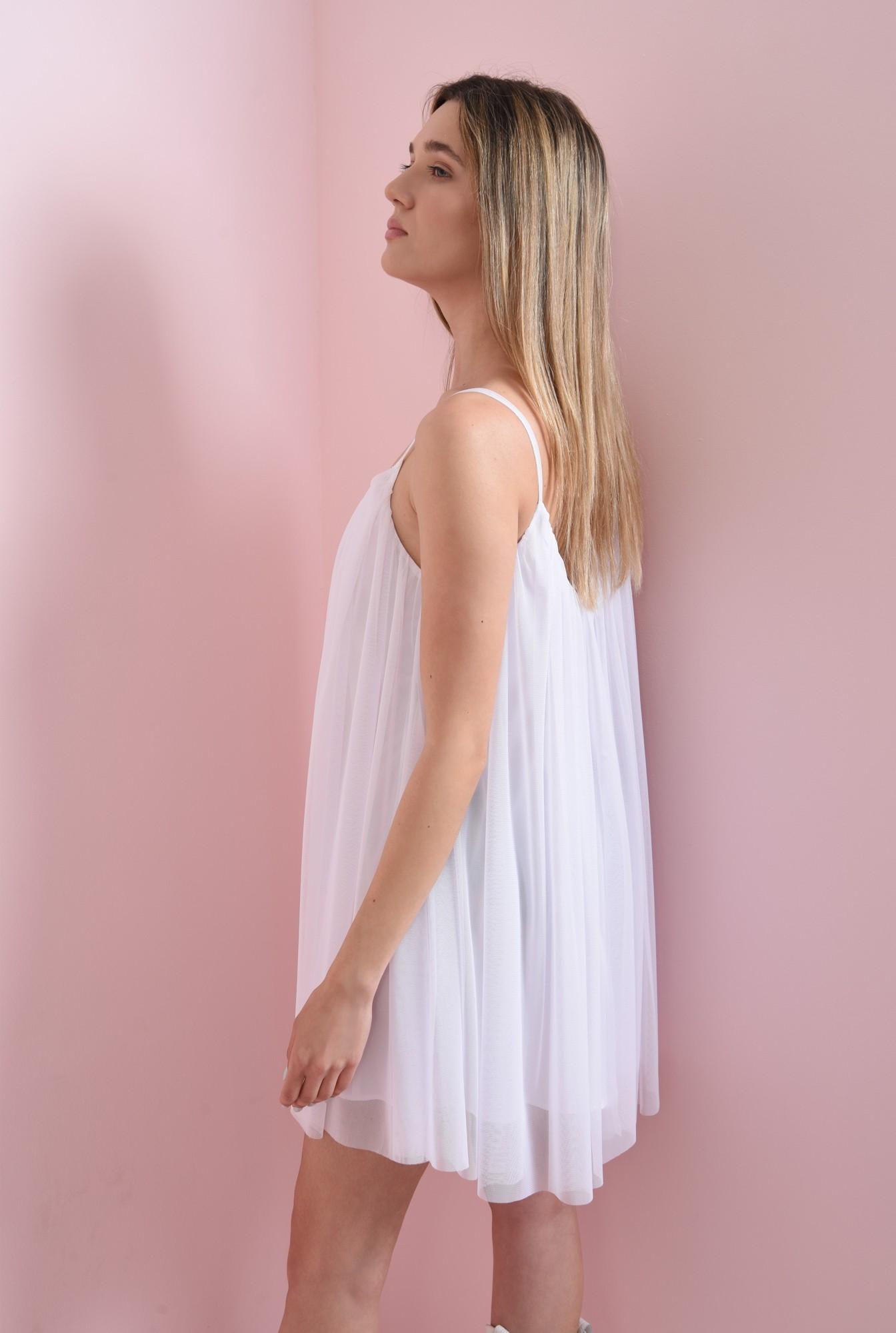 2 - rochie alba, din tul, Poema