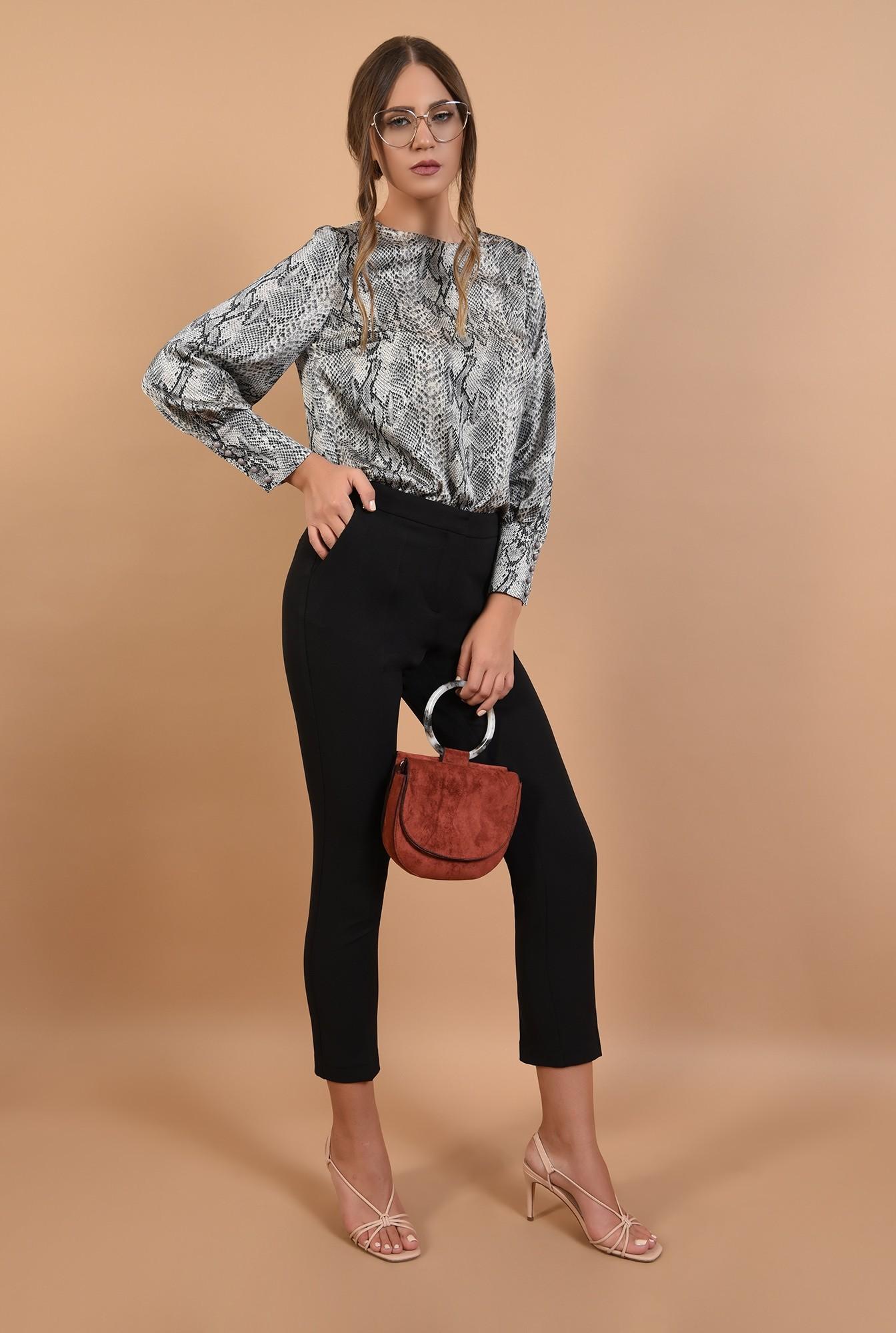 3 - 360 - pantaloni conici, cu croi la dunga, buzunare, Poema, office
