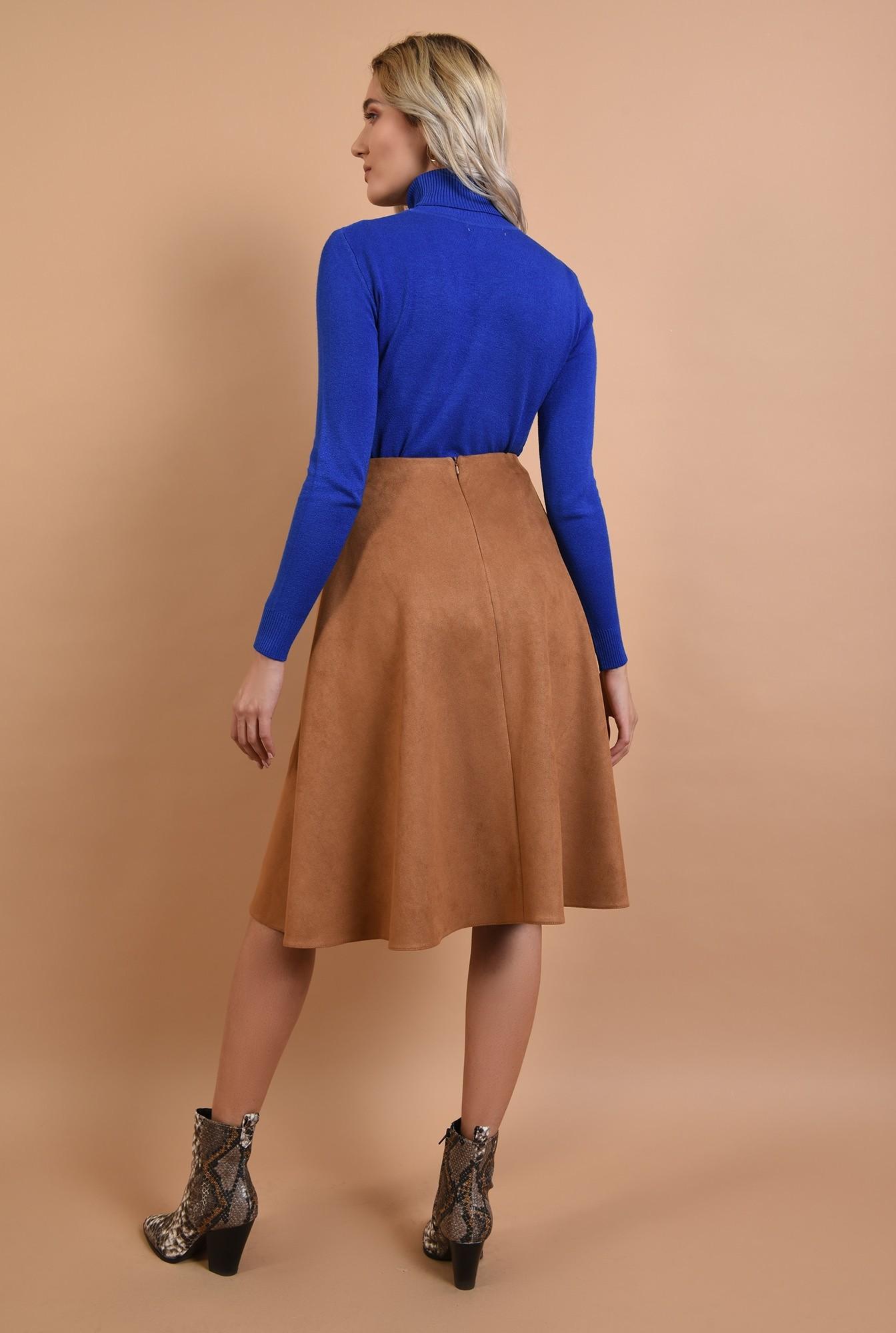 1 - maleta albastra, casual, tricotata, Poema