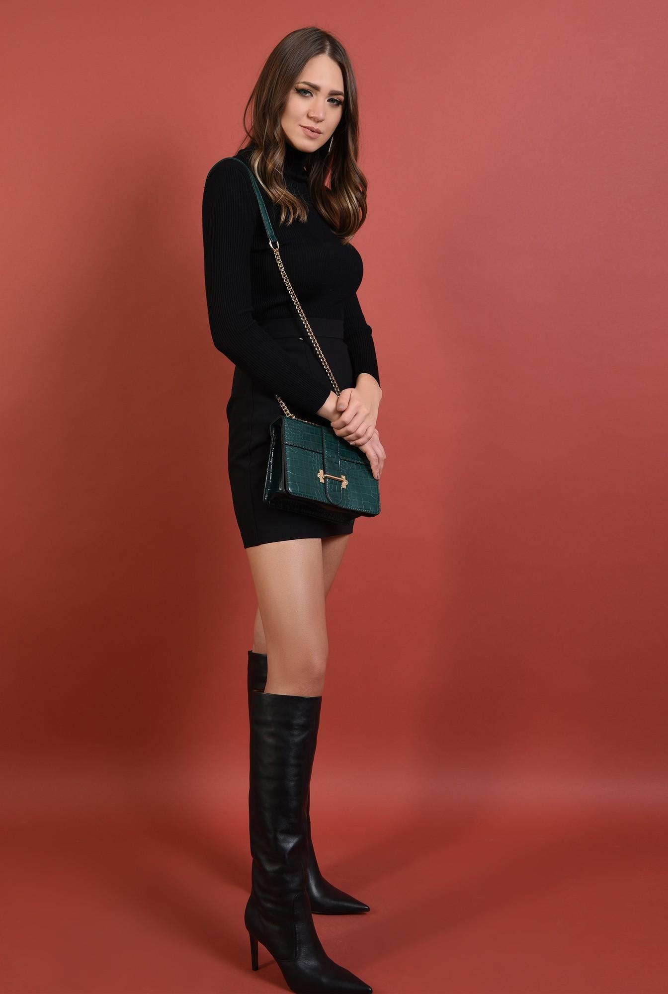 3 - pulover negru, mulat, fin, guler inalt, reiat, Poema
