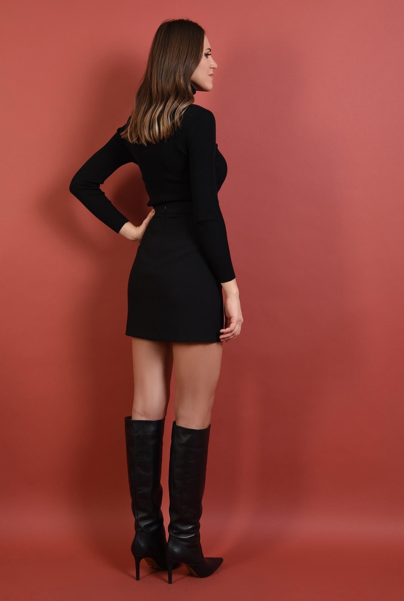 1 - pulover negru, mulat, fin, guler inalt, reiat, Poema