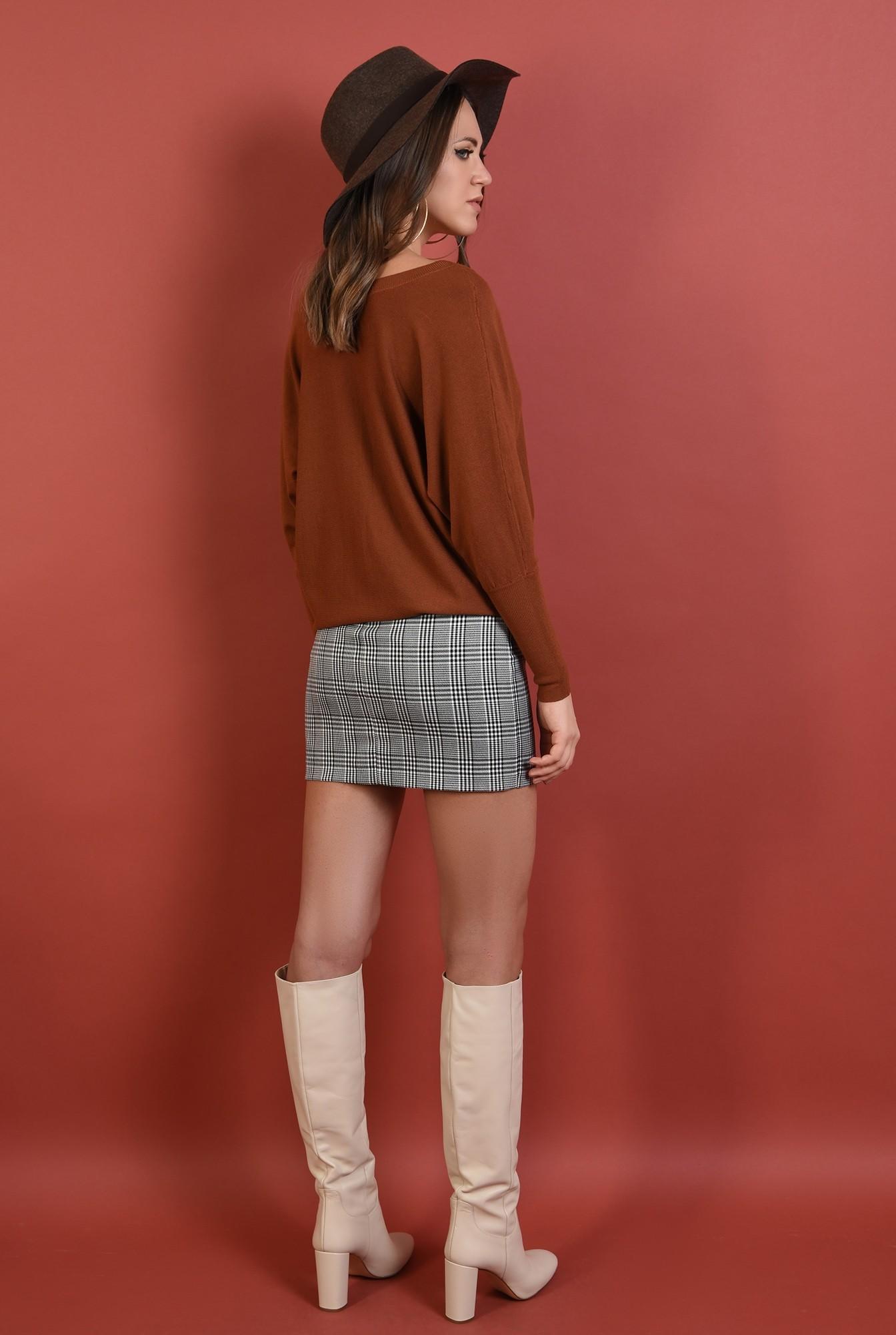 1 - pulover Poema, cu anchior, supradimensionat, maneci raglan