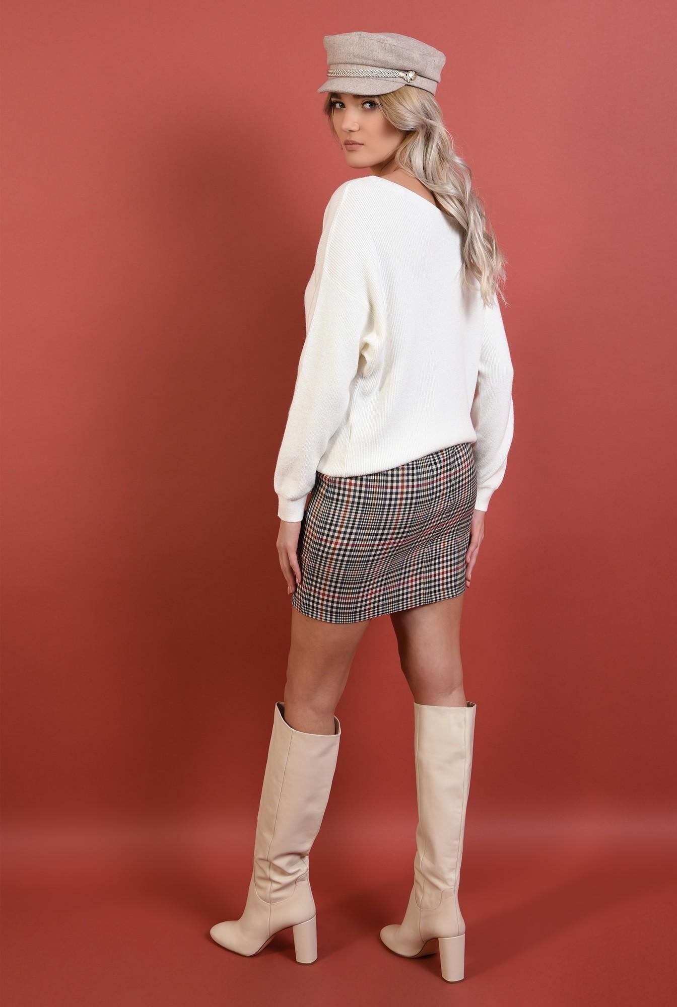 1 - pulover alb, cu anchior, reiat, croi lejer, Poema