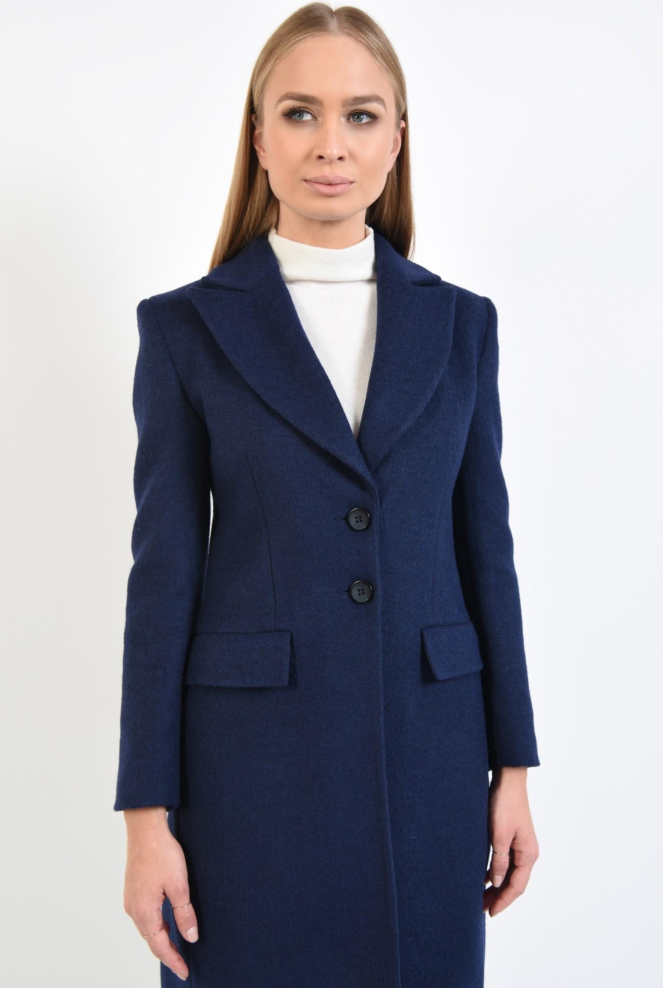 0 - 360 - paltoane online, bleumarin, croi lung, inchidere cu butoniera