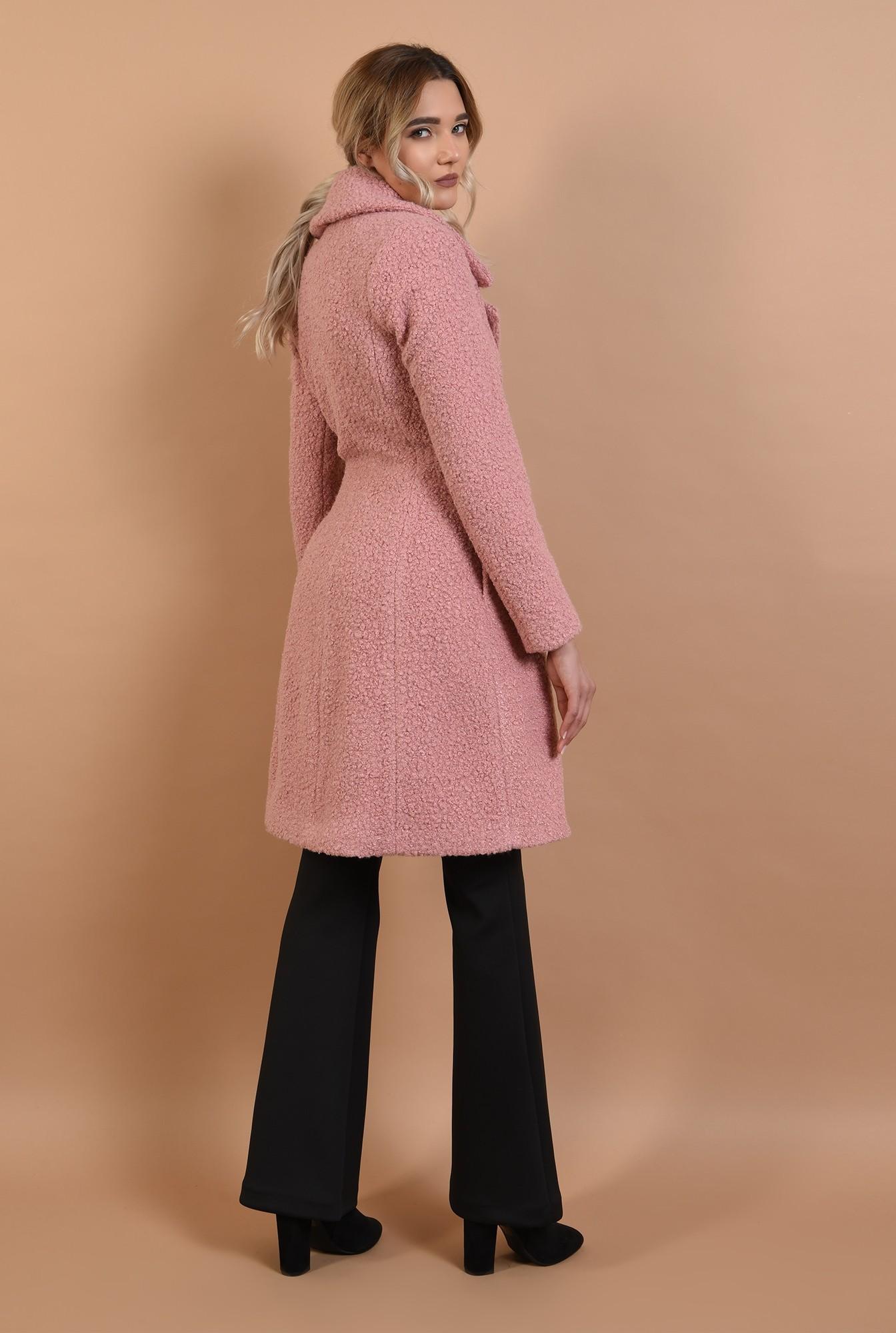 3 - palton roz, midi, cambrat, doua randuri de nasturi, Poema