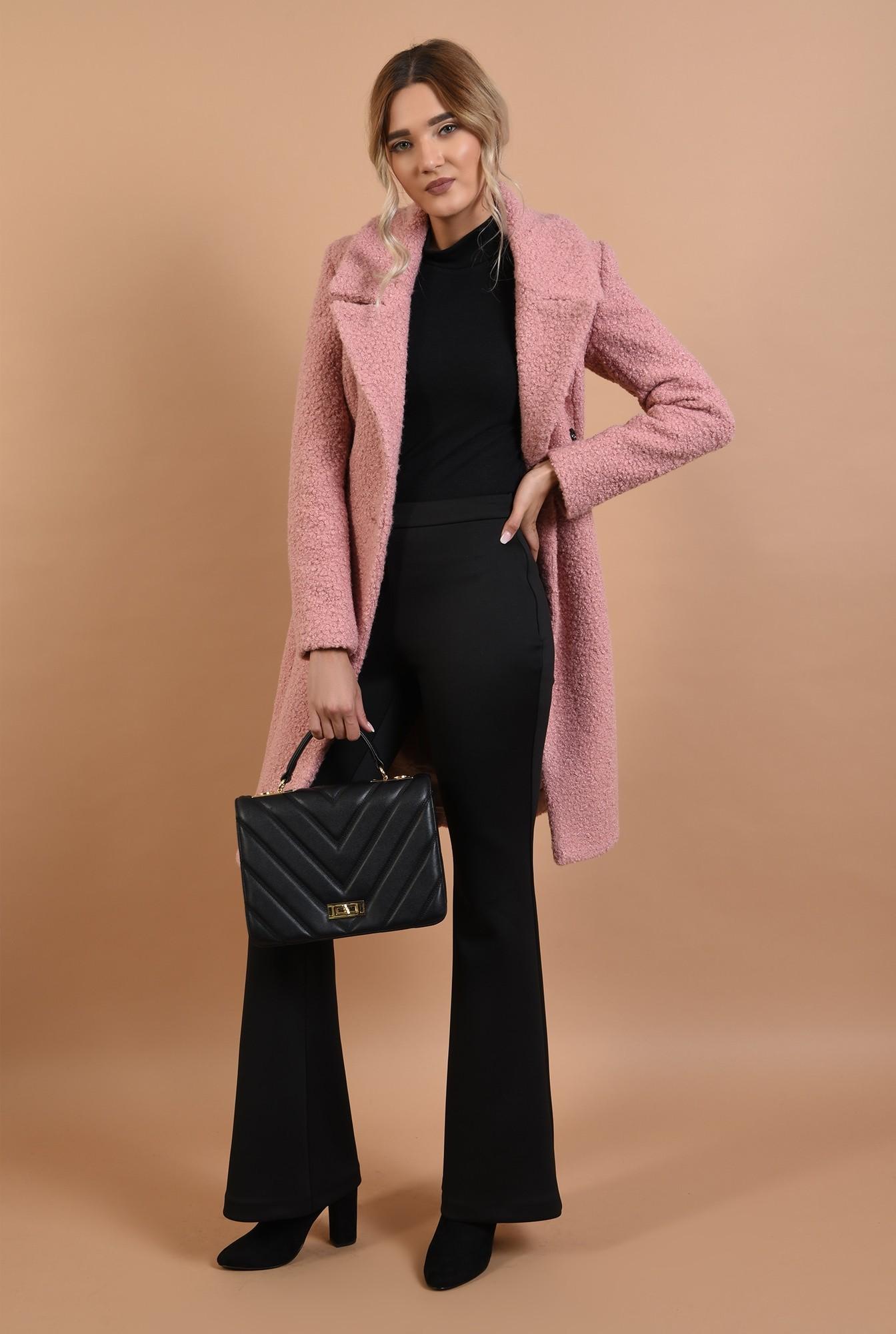 2 - palton roz, midi, cambrat, doua randuri de nasturi, Poema