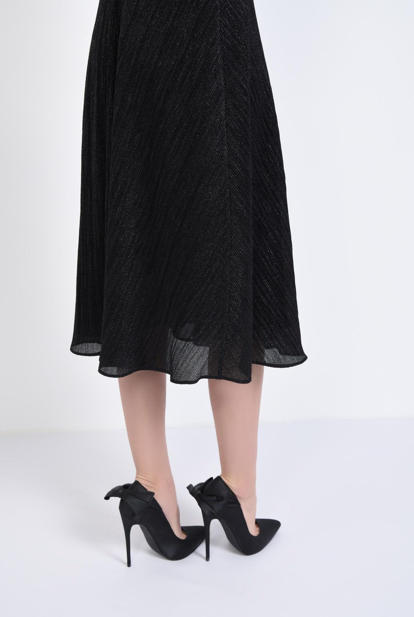 4 - pantofi eleganti, negru, satin, stiletto