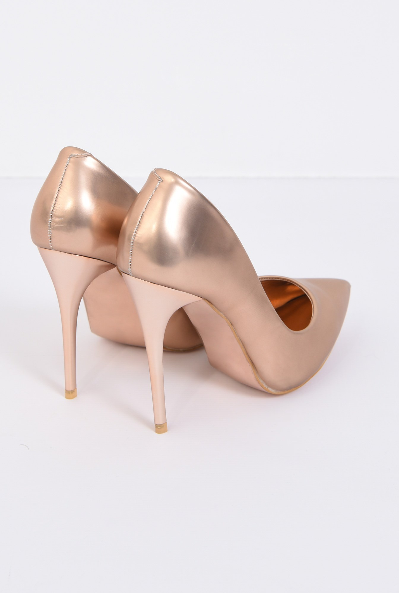 1 - PANTOFI STILETTO PO10091701-GOLD/ROSE
