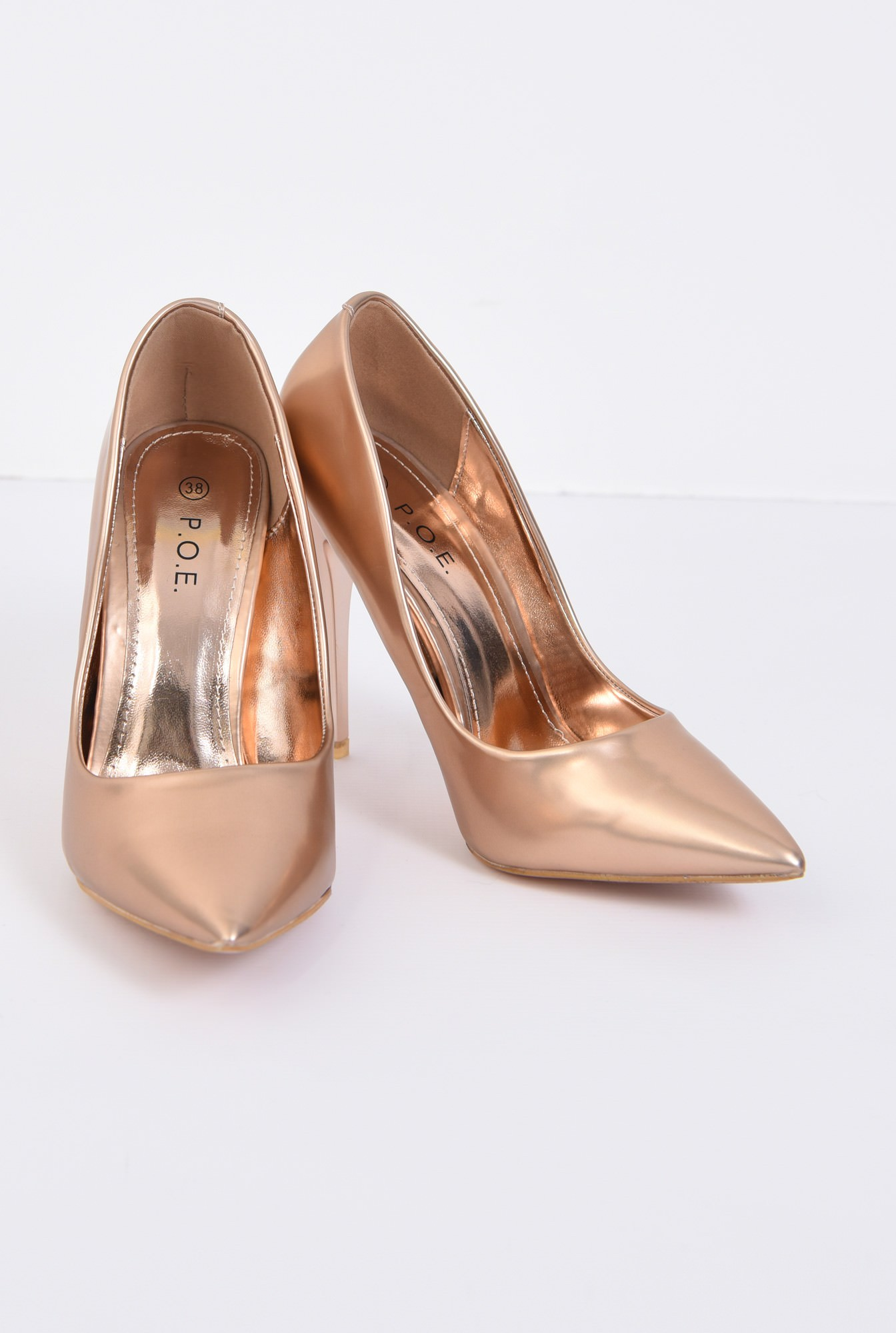 3 - PANTOFI STILETTO PO10091701-GOLD/ROSE