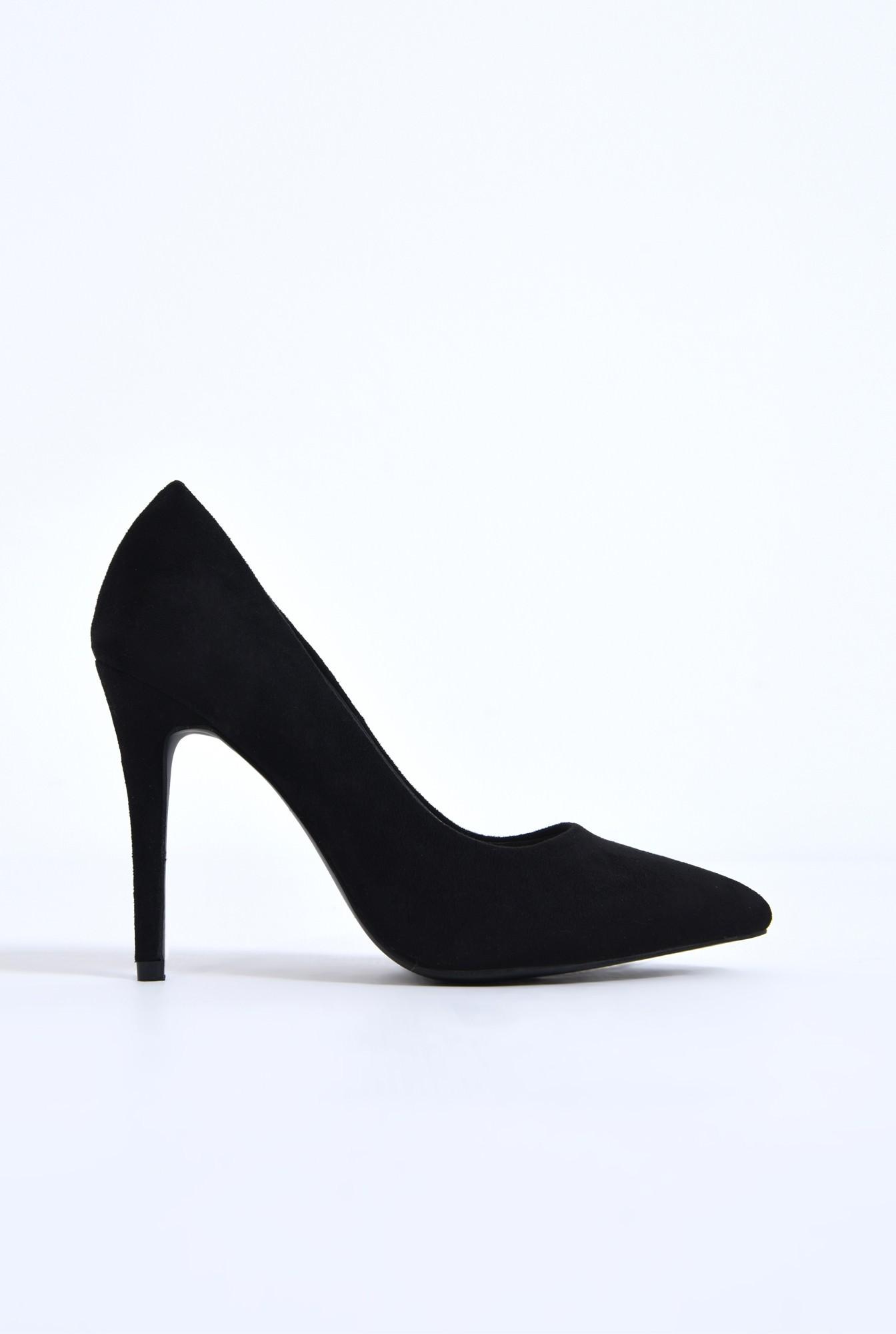 0 - pantofi casual, negru, stiletto
