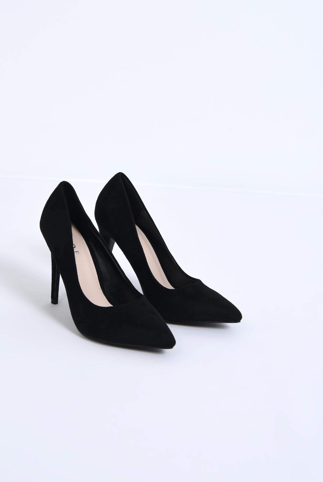 1 - pantofi casual, negru, stiletto