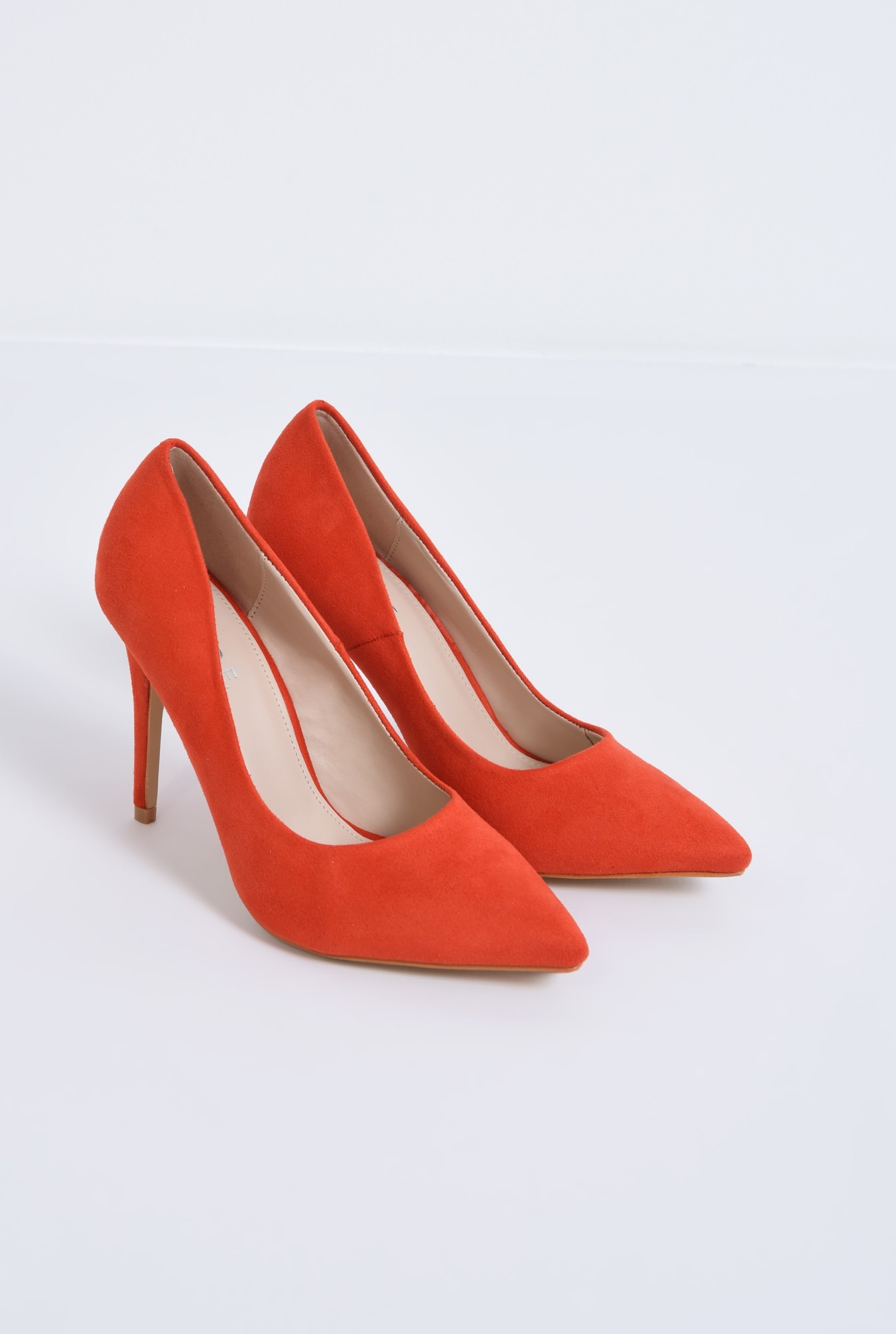 1 - pantofi casual, rosu, stiletto