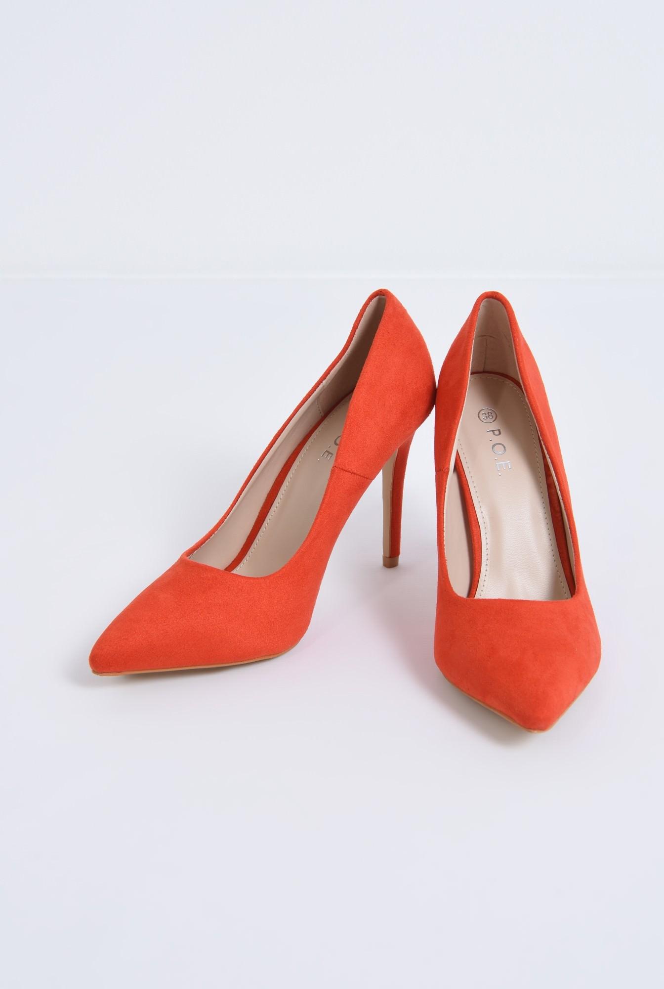 3 - pantofi casual, rosu, stiletto